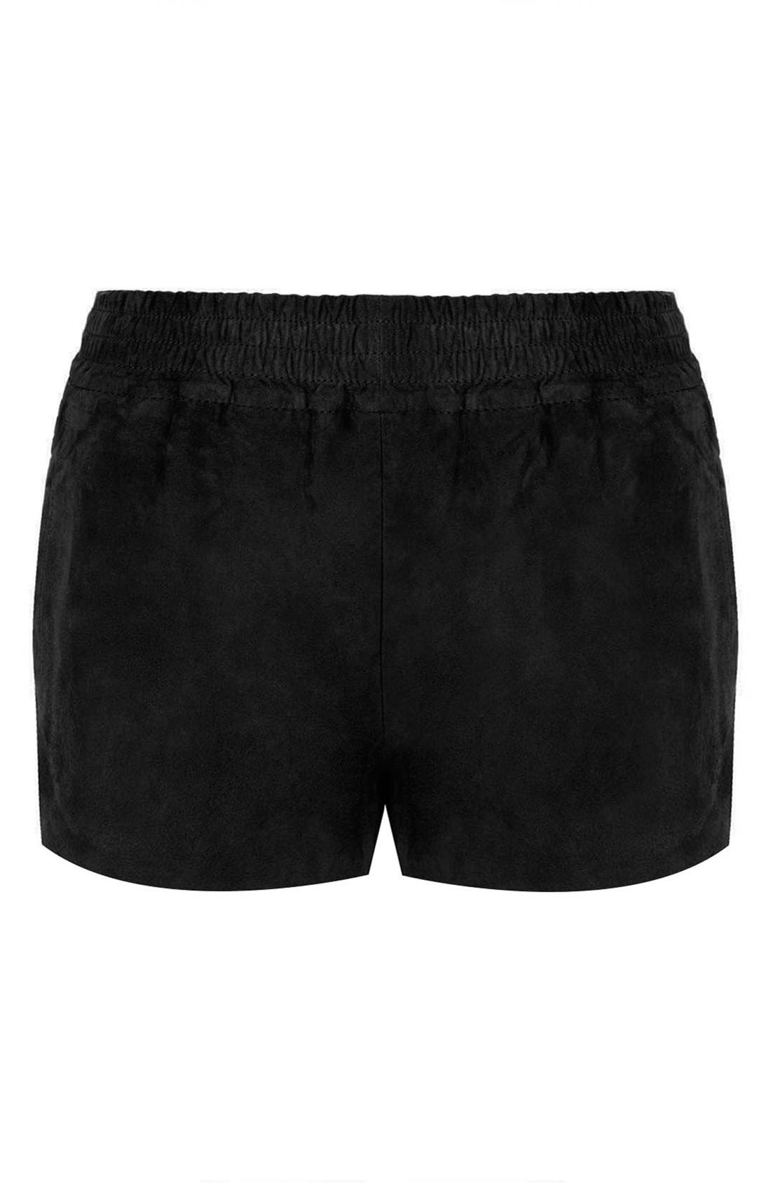 Alternate Image 3  - Kate Moss for Topshop Suede Runner Shorts (Online Only)