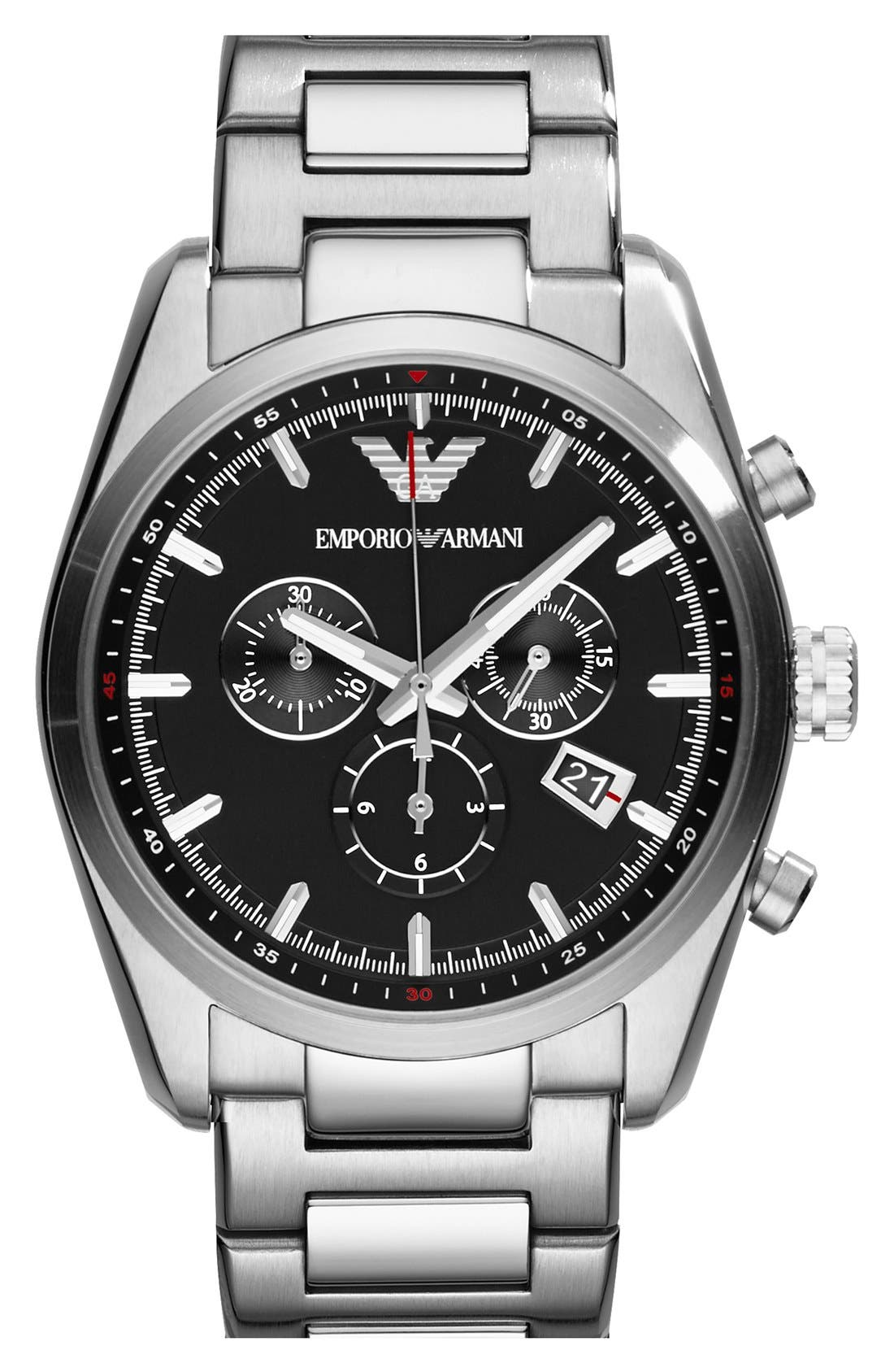 Main Image - Emporio Armani Chronograph Bracelet Watch, 43mm