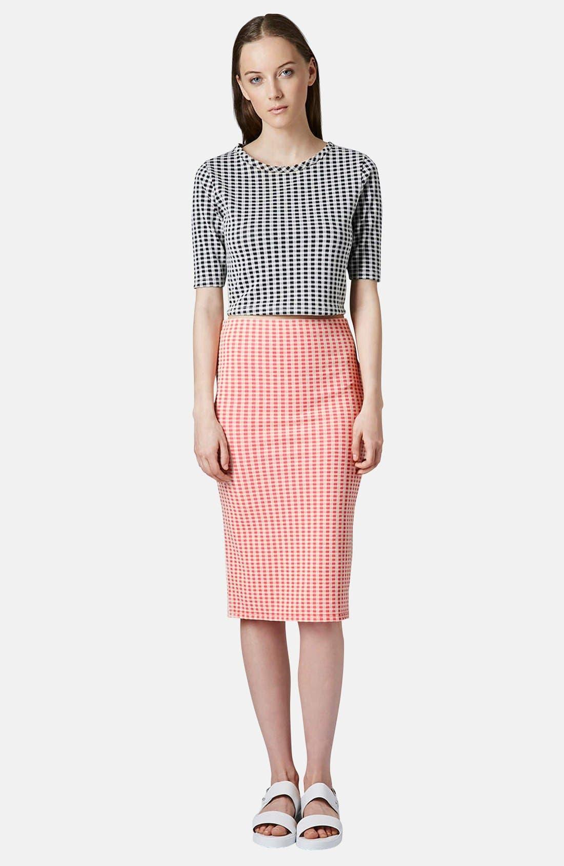 Alternate Image 5  - Topshop Gingham Tube Skirt