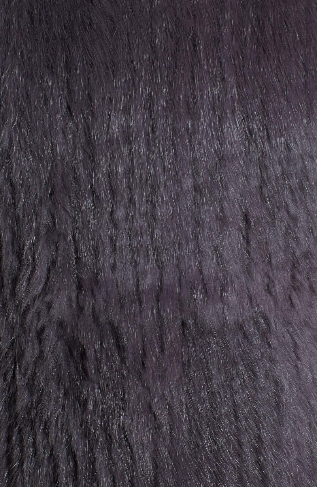 Alternate Image 3  - Love Token Genuine Rabbit Fur & Knit Vest