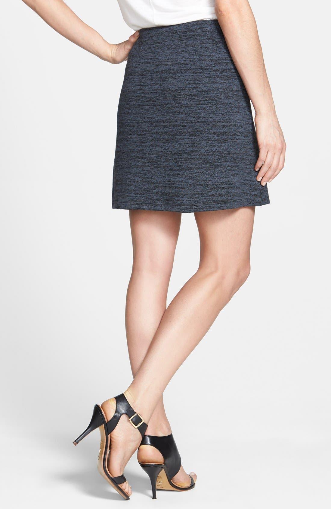 Alternate Image 2  - Halogen® Faux Wrap Textured Knit Skirt (Regular & Petite)