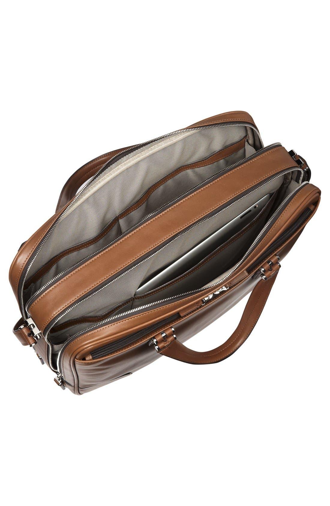 Alternate Image 5  - Tumi 'Astor Ansonia' Zip Top Vachetta Leather Laptop Briefcase (17 Inch)