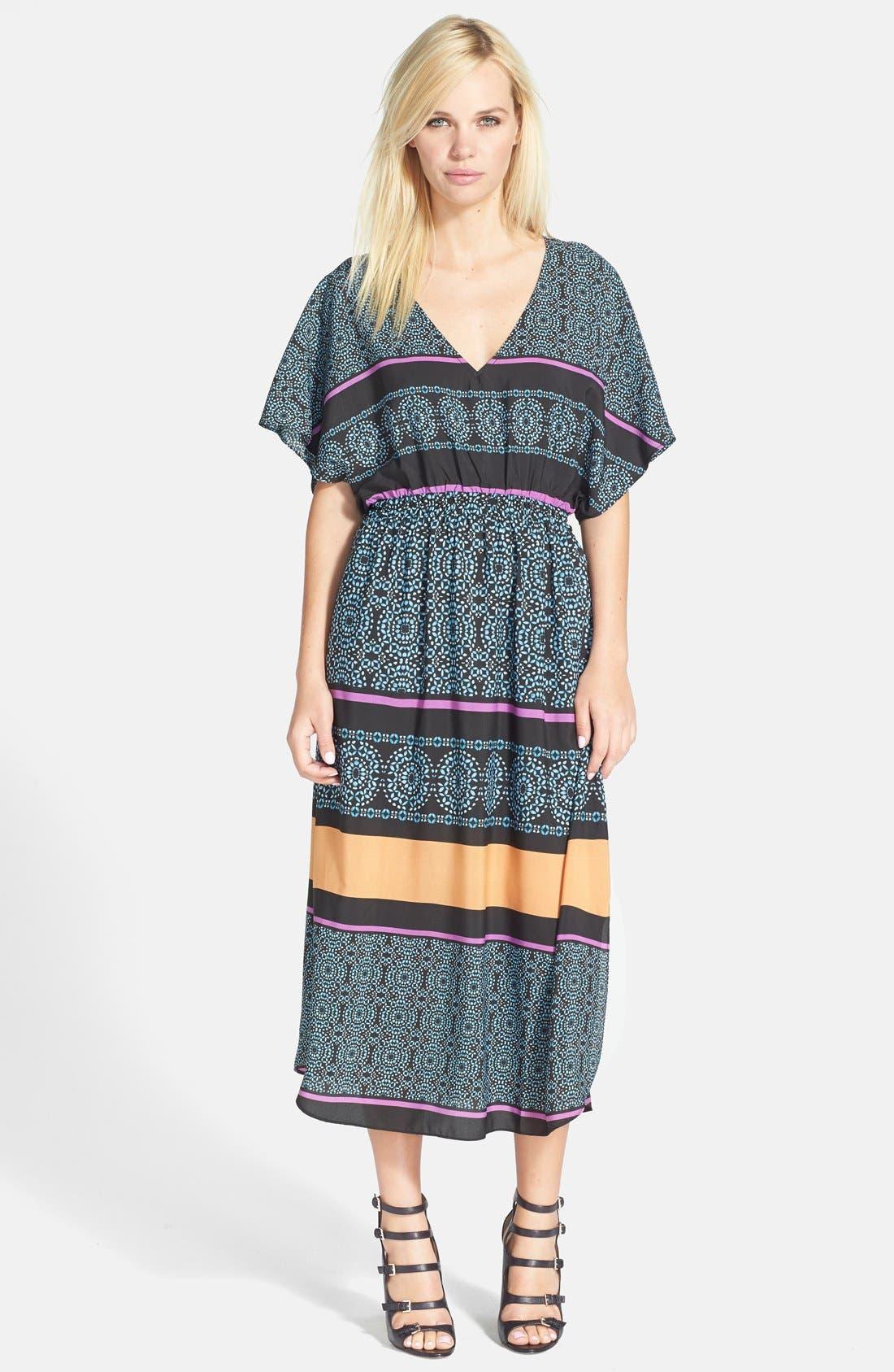 Main Image - Like Mynded Print Caftan Midi Dress