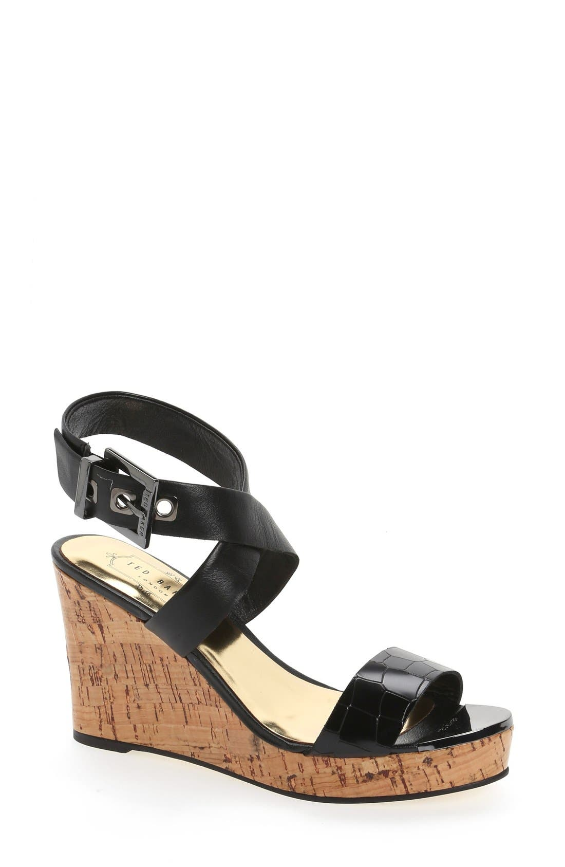 Main Image - Ted Baker London 'Oliviaa' Wedge Sandal
