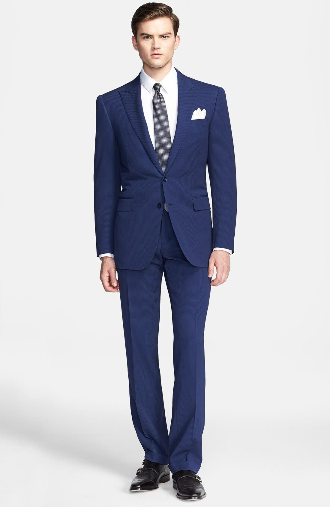 Main Image - Ralph Lauren Black Label Twill Wool Suit