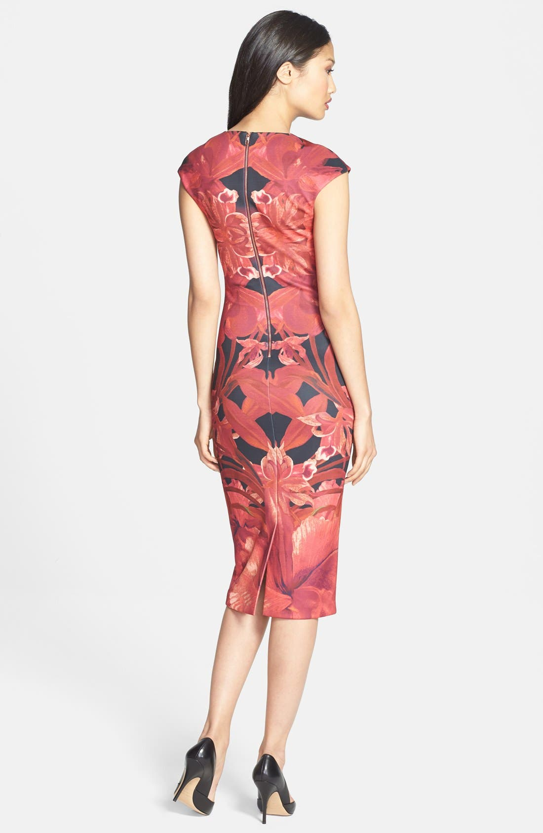 Alternate Image 2  - Ted Baker London 'Jungle Orchid' Print Neoprene Midi Dress