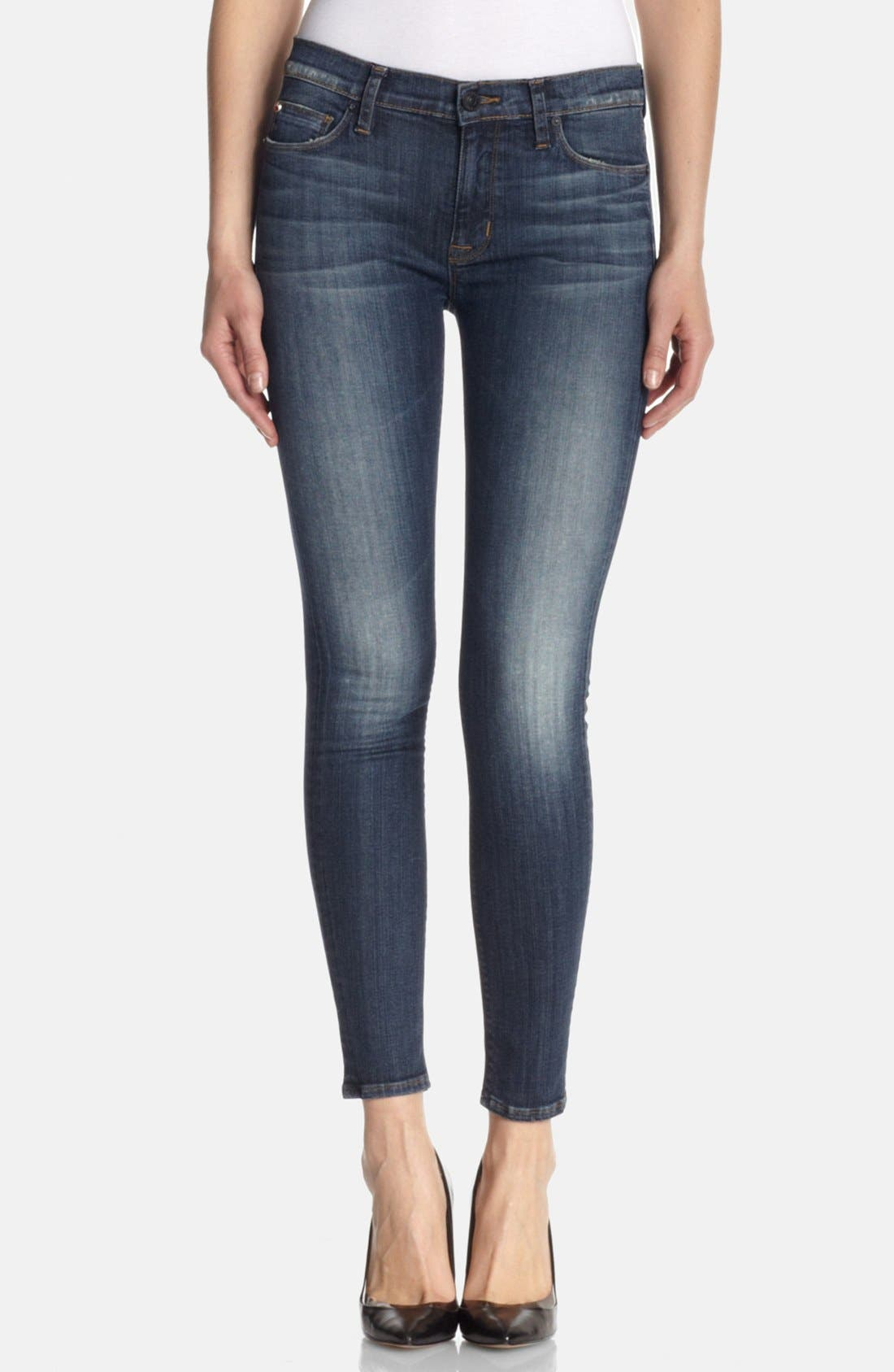 Alternate Image 1  - Hudson Jeans 'Nico' Mid Rise Skinny Jeans (Glam)