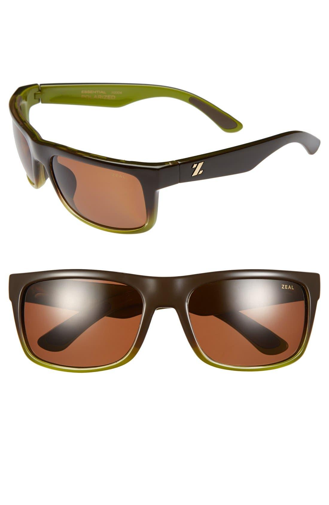 Main Image - Zeal Optics 'Essential' 58mm Polarized Plant Based Sunglasses