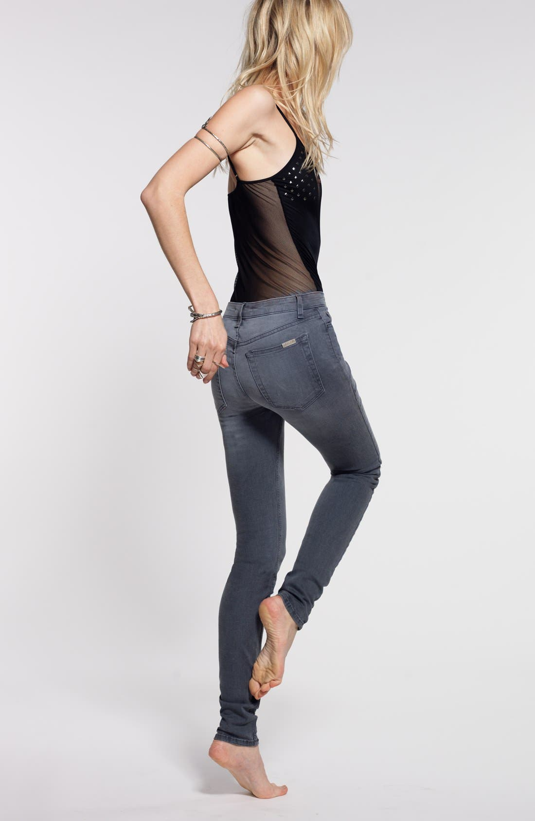 Alternate Image 4  - Joe's 'Flawless' High Rise Skinny Jeans (Rakel)