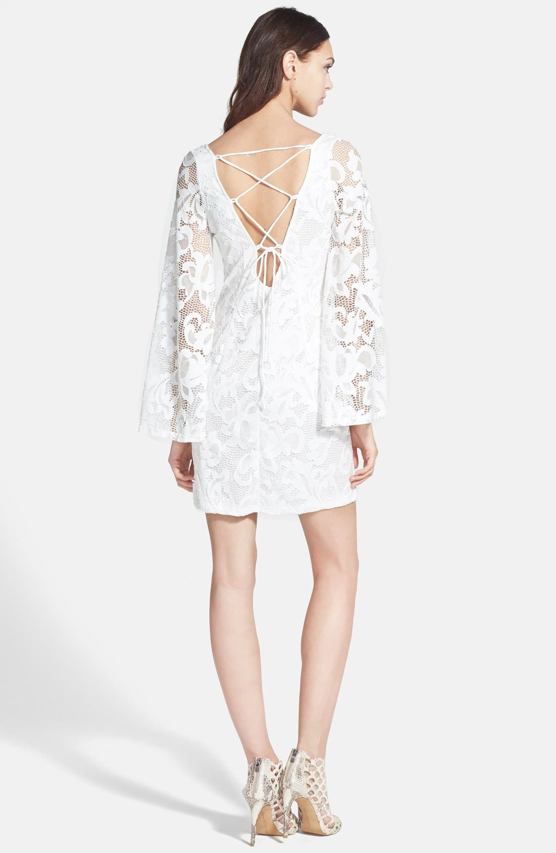 Alternate Image 2  - Alexia Admor Lace Shift Dress