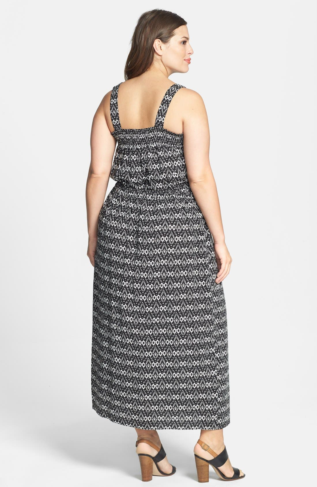 Alternate Image 2  - Two by Vince Camuto 'Ancient Etchings' Tie Waist Maxi Dress (Plus Size)