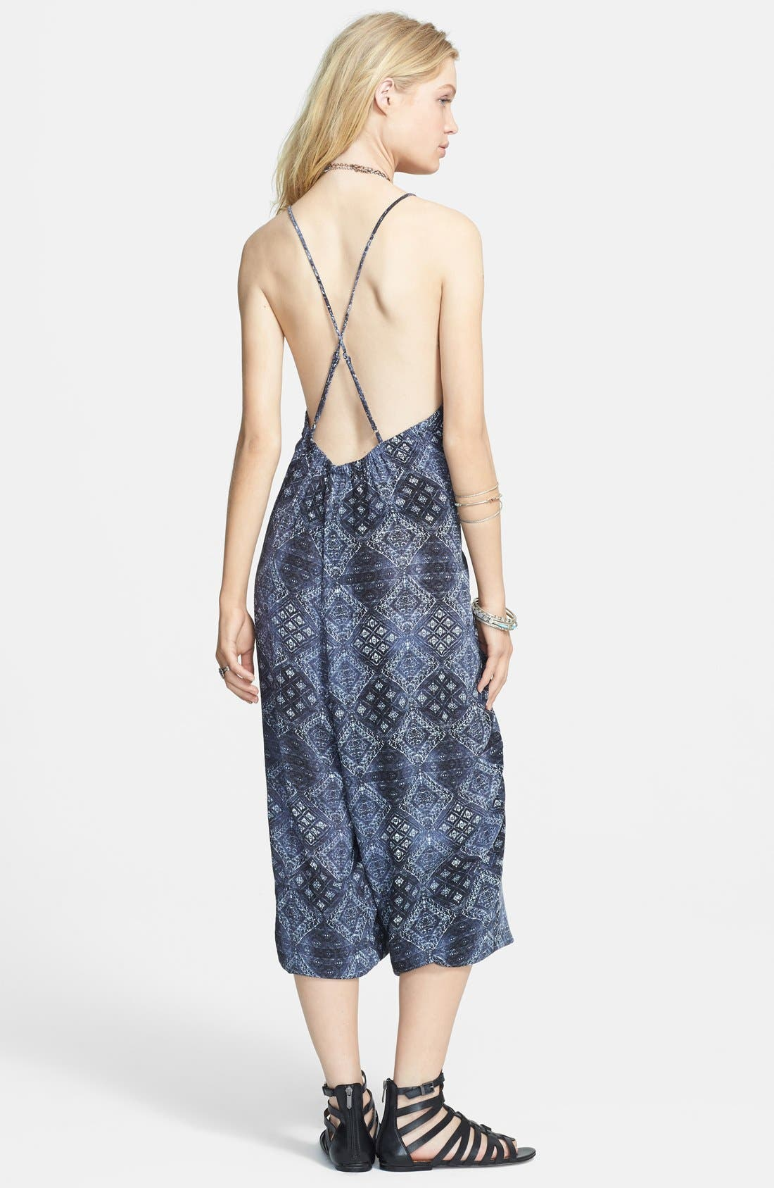 Alternate Image 2  - Free People Print Harem Jumpsuit