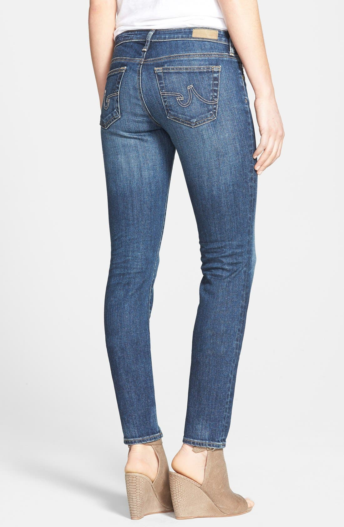 Alternate Image 2  - AG 'The Stilt' Cigarette Leg Stretch Jeans (Eleven Year Intrigue) (Nordstrom Exclusive)