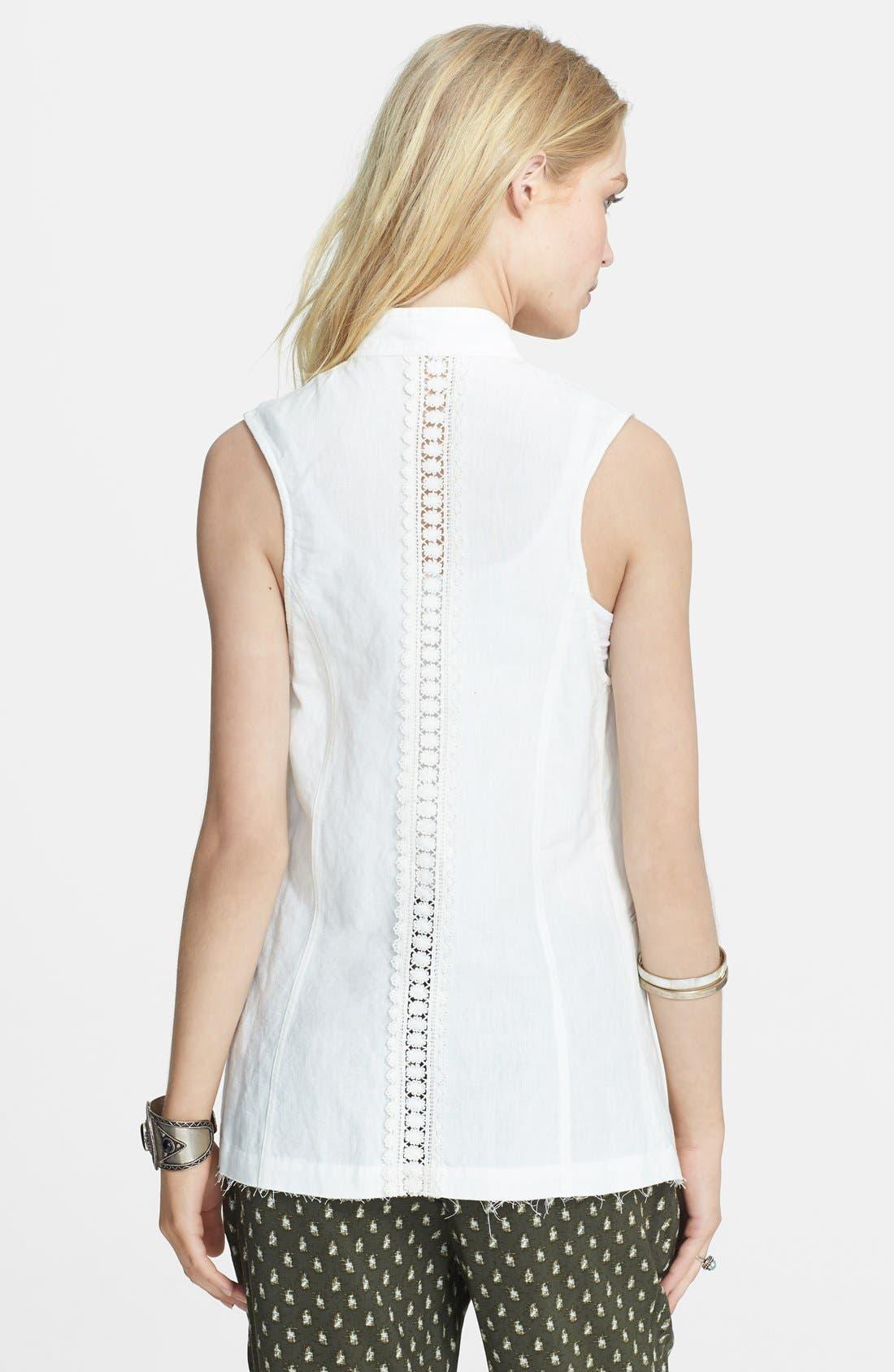 Alternate Image 2  - Free People Linen Blend High/Low Waistcoat