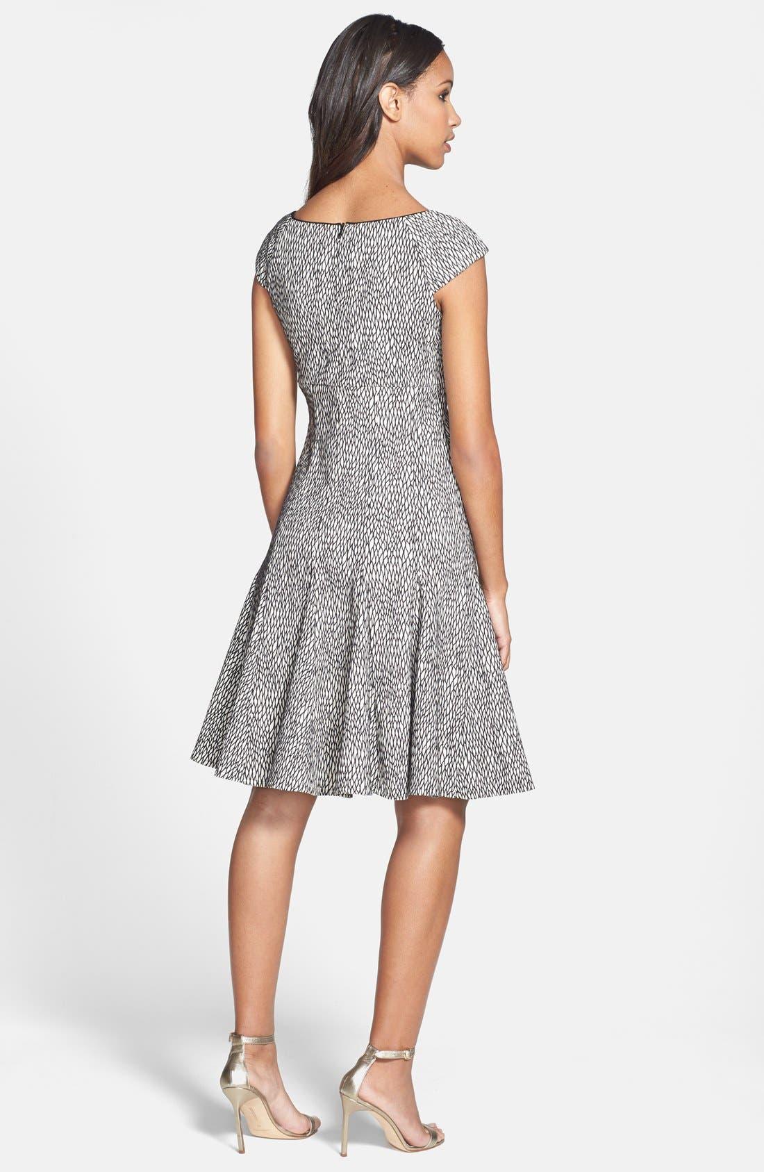 Alternate Image 2  - Gabby Skye Jacquard Fit & Flare Dress