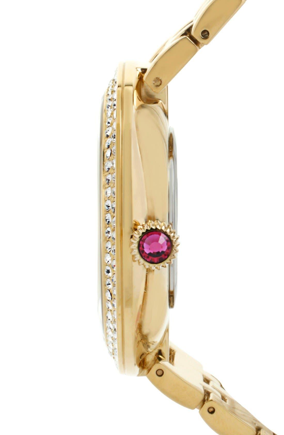Alternate Image 3  - Betsey Johnson Pavé Dial Bracelet Watch, 43mm