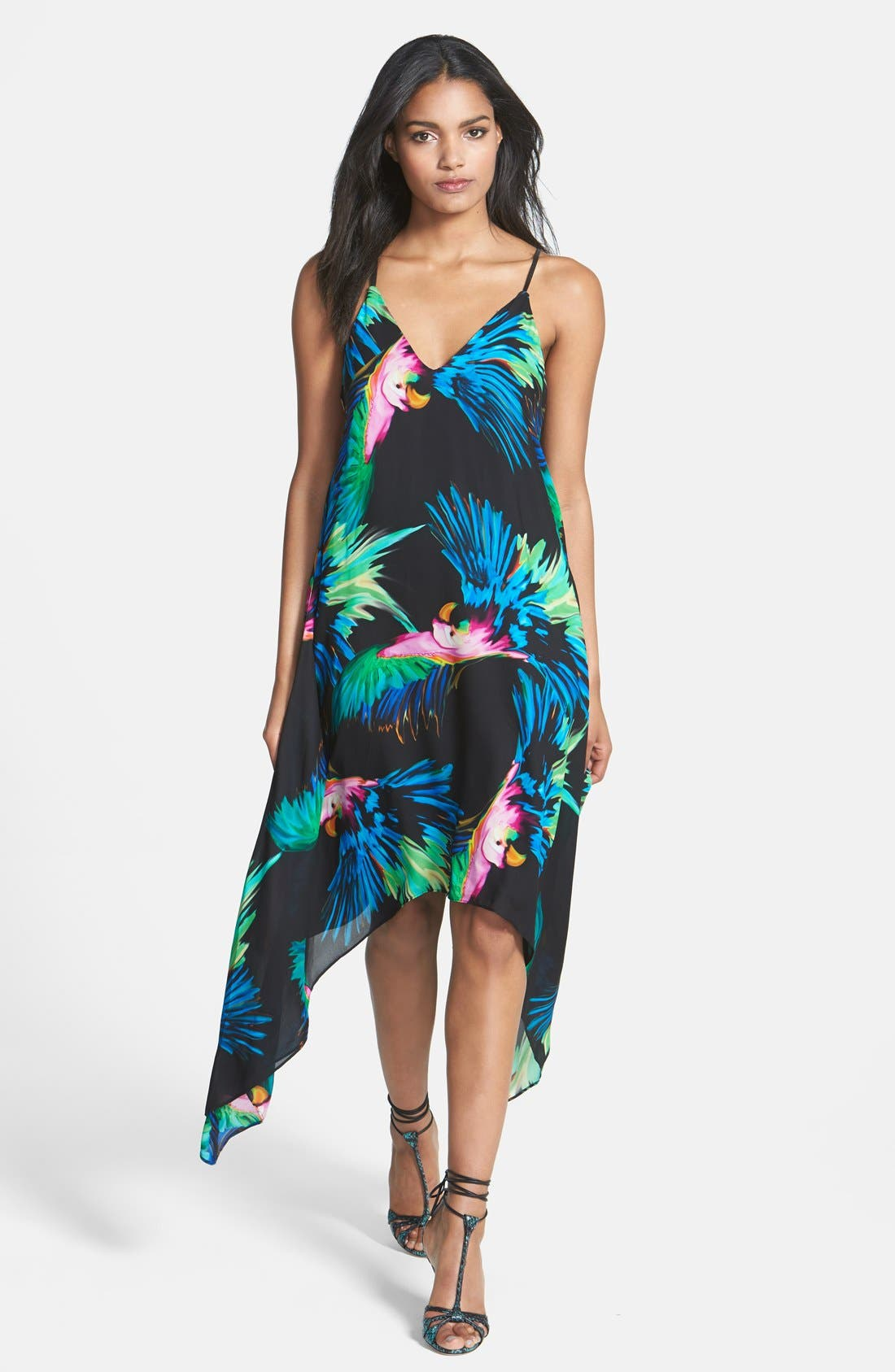 Main Image - Milly Strappy Paradise Print Silk Dress