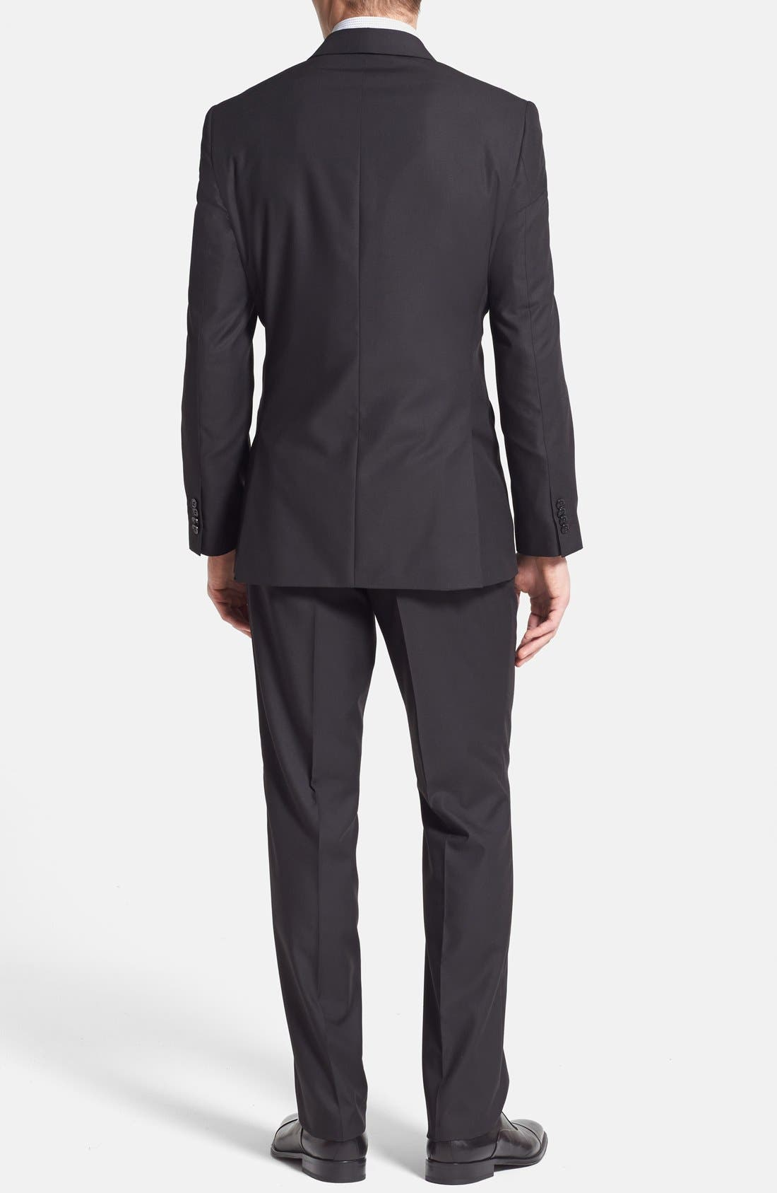 Alternate Image 2  - Rockin' Sartorial Trim Fit Wrinkle Resistant Travel Suit