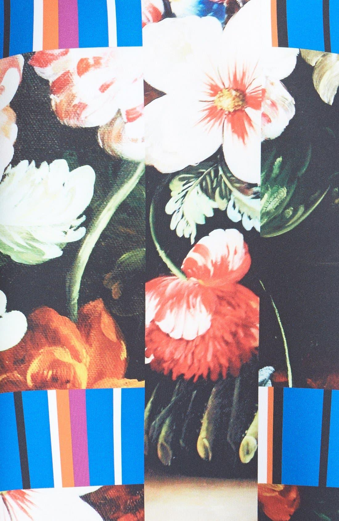 Alternate Image 3  - Clover Canyon 'Grecian Bouquet' Print Neoprene A-Line Dress