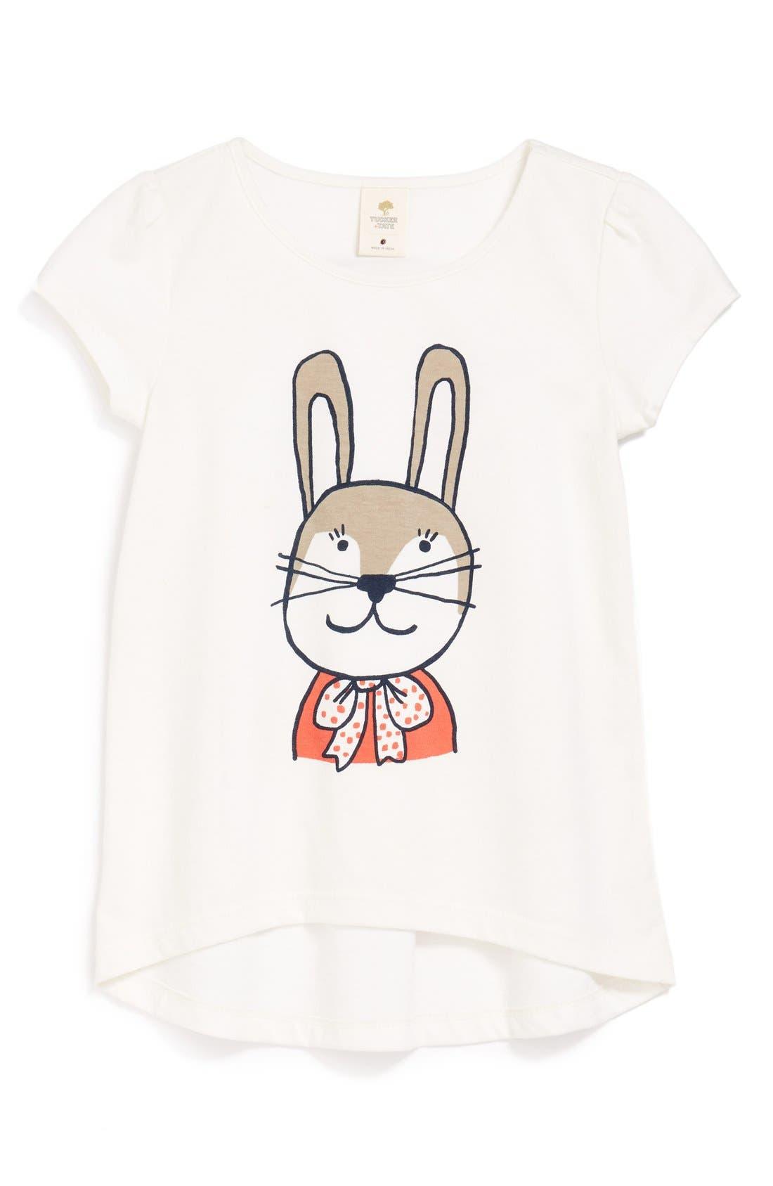 Main Image - Tucker + Tate 'Rosa' Graphic Tee (Toddler Girls, Little Girls & Big Girls)