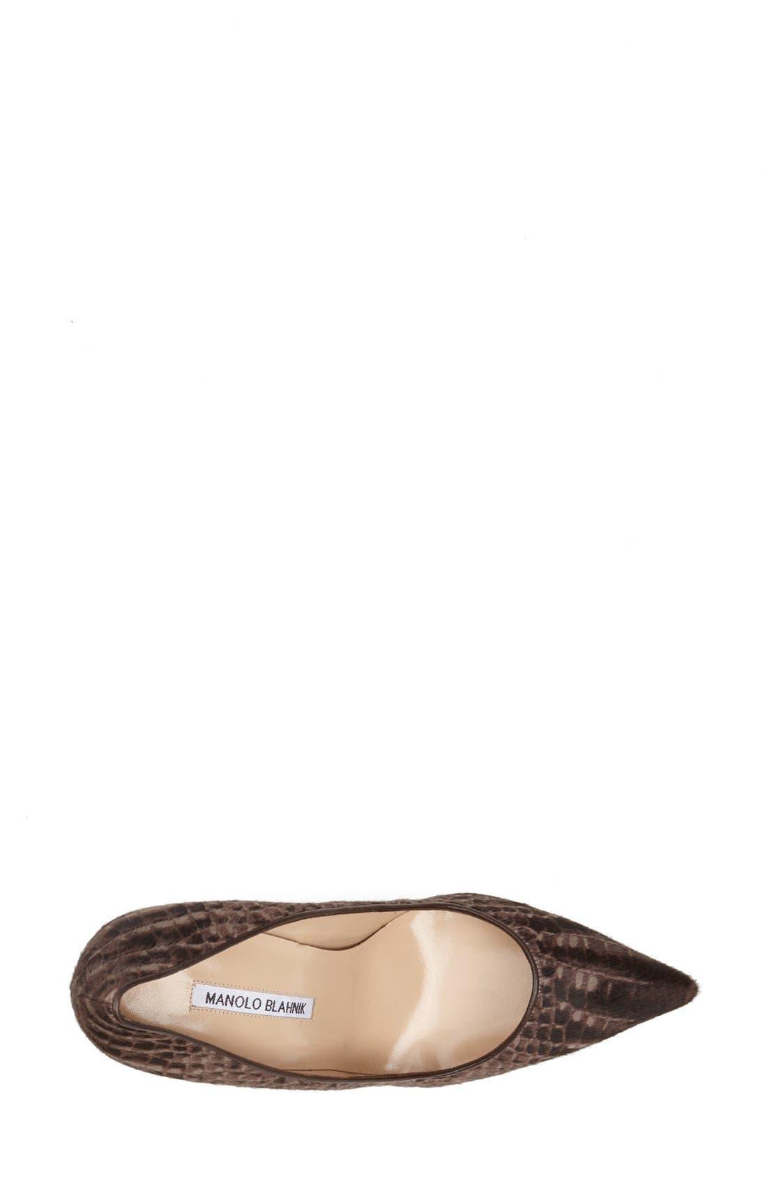 Alternate Image 3  - Manolo Blahnik 'BB' Calf Hair Pump (Women)