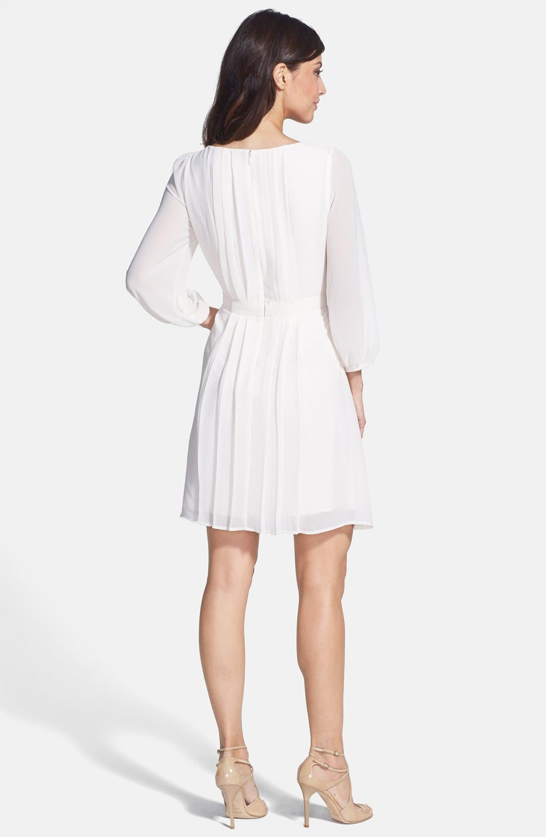 Alternate Image 2  - Jessica Simpson Chiffon Blouson Dress