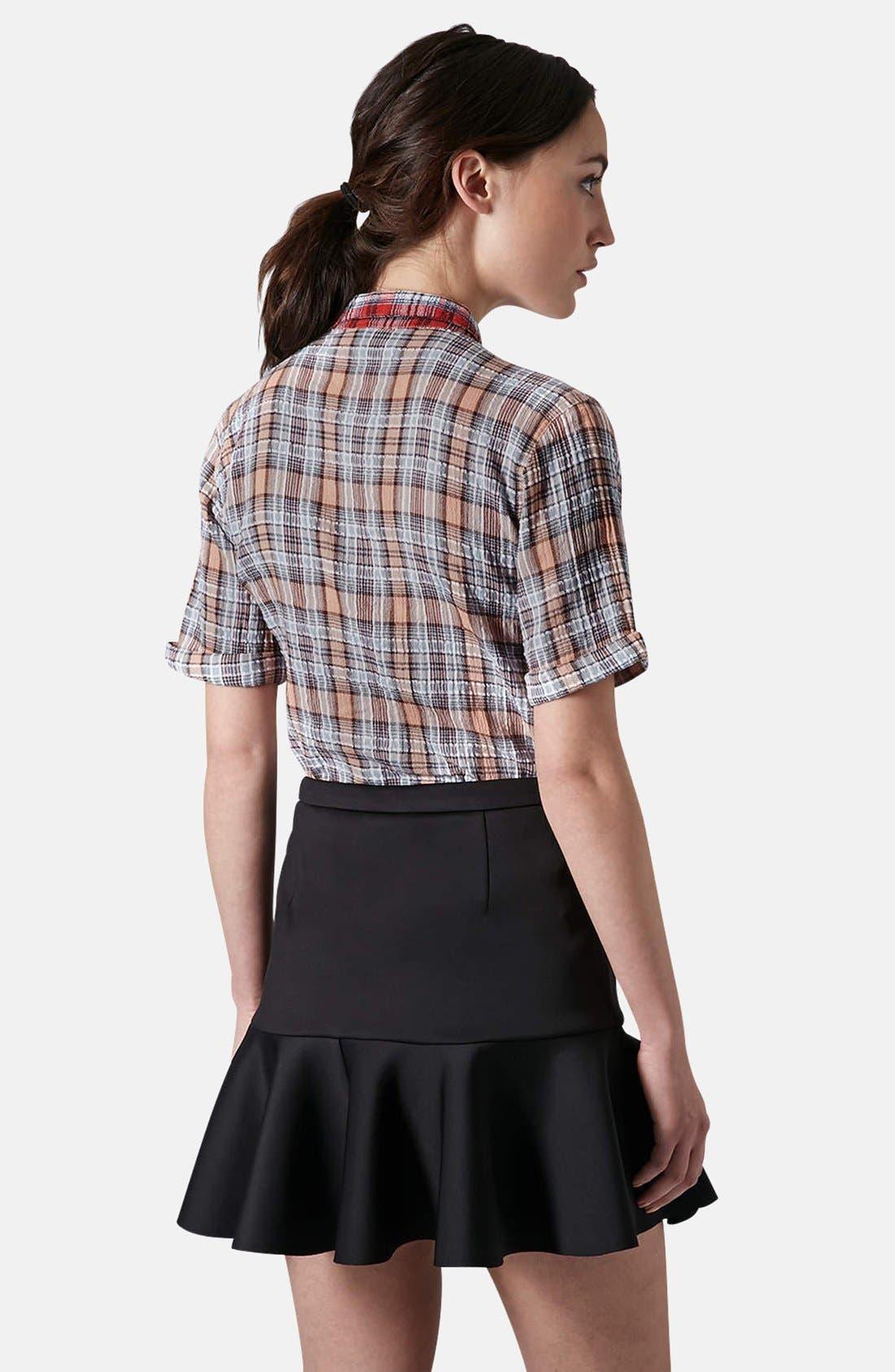 Alternate Image 2  - Topshop Check Seersucker Shirt