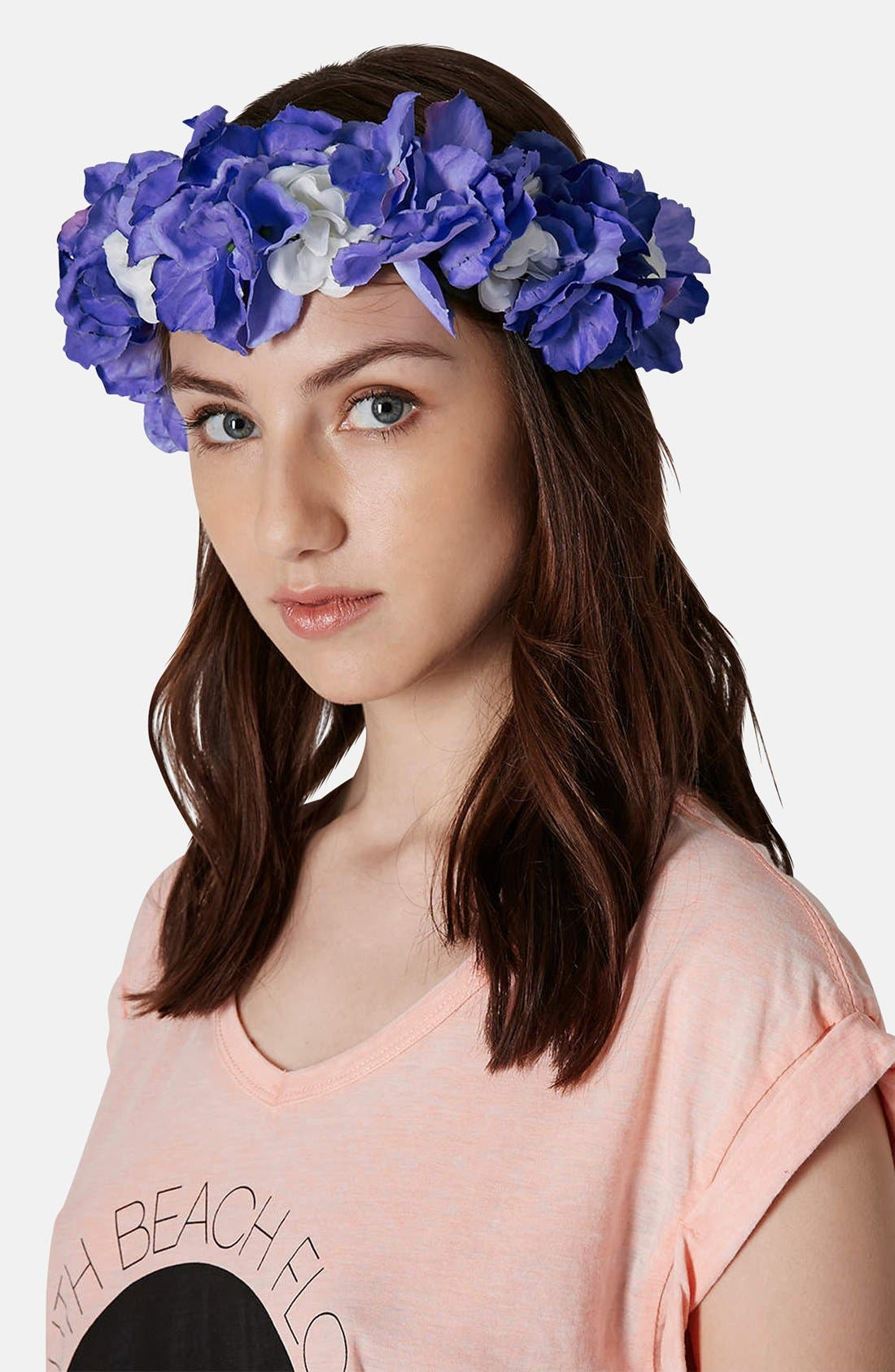Alternate Image 2  - Topshop Flower Crown Headband