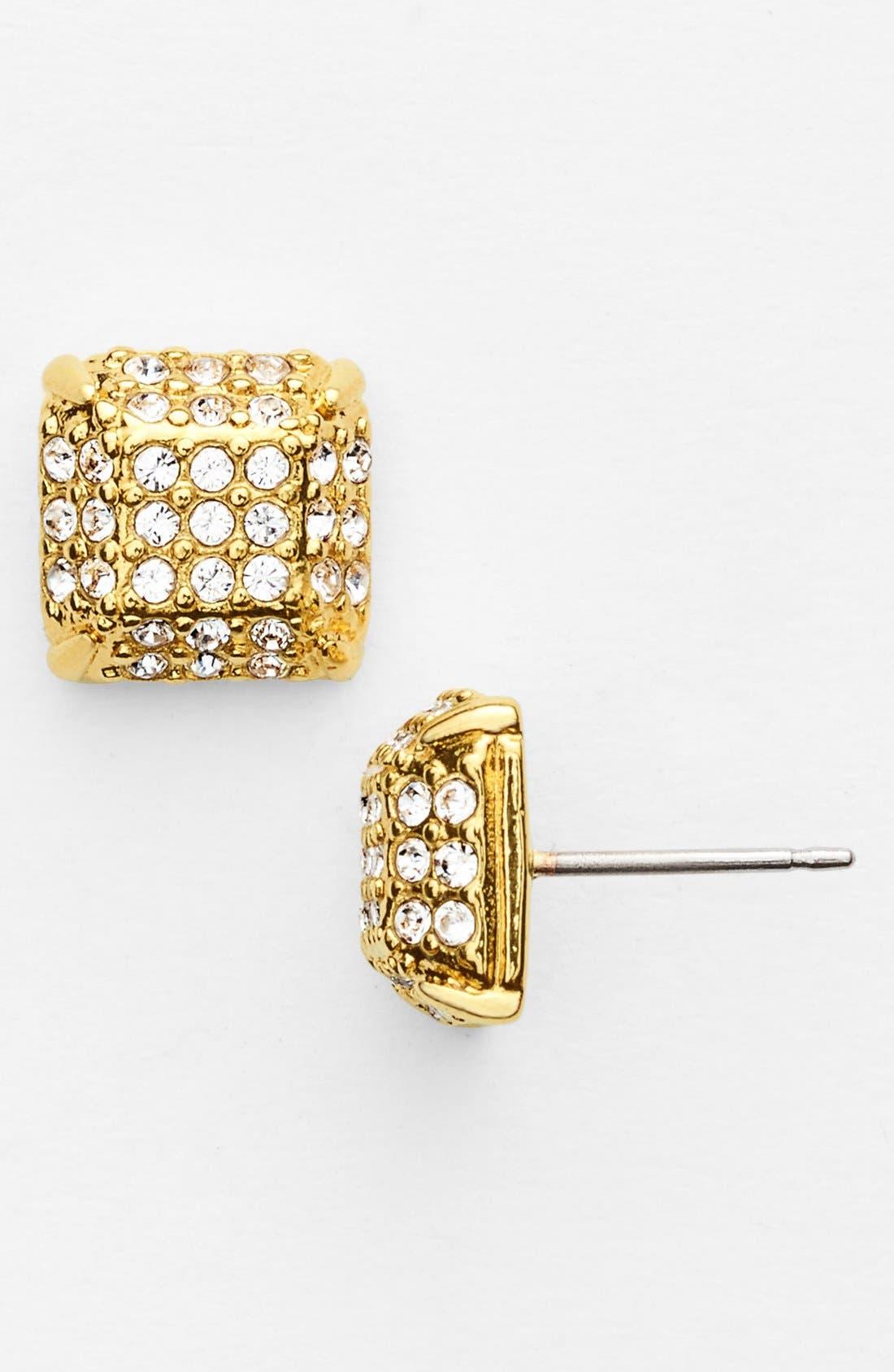 Alternate Image 1 Selected - Vince Camuto 'Haute Hex' Pavé Stud Earrings