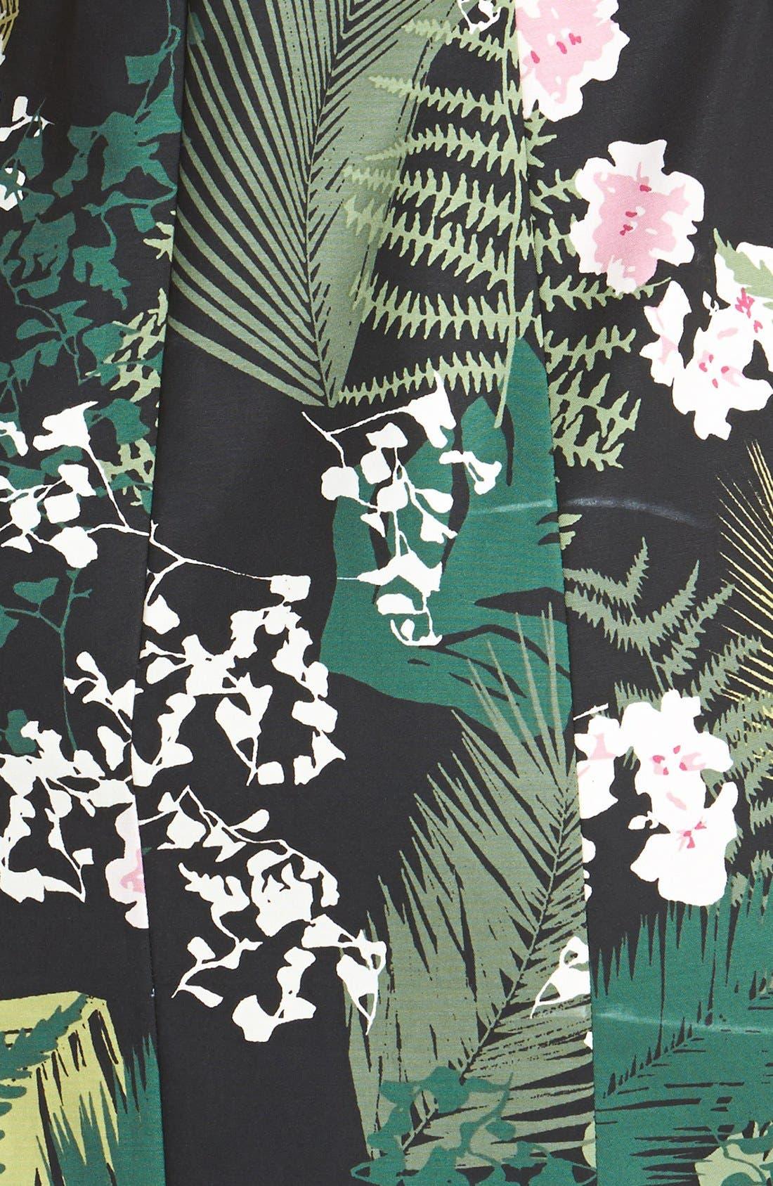 Alternate Image 3  - Adrianna Papell 'Rainforest' Print Cutout Stretch Cotton Dress