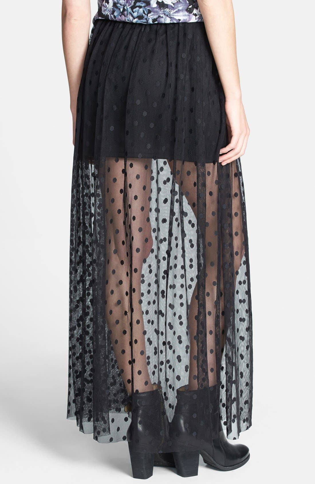 Alternate Image 2  - ASTR Polka Dot Sheer Maxi Skirt (Nordstrom Exclusive)