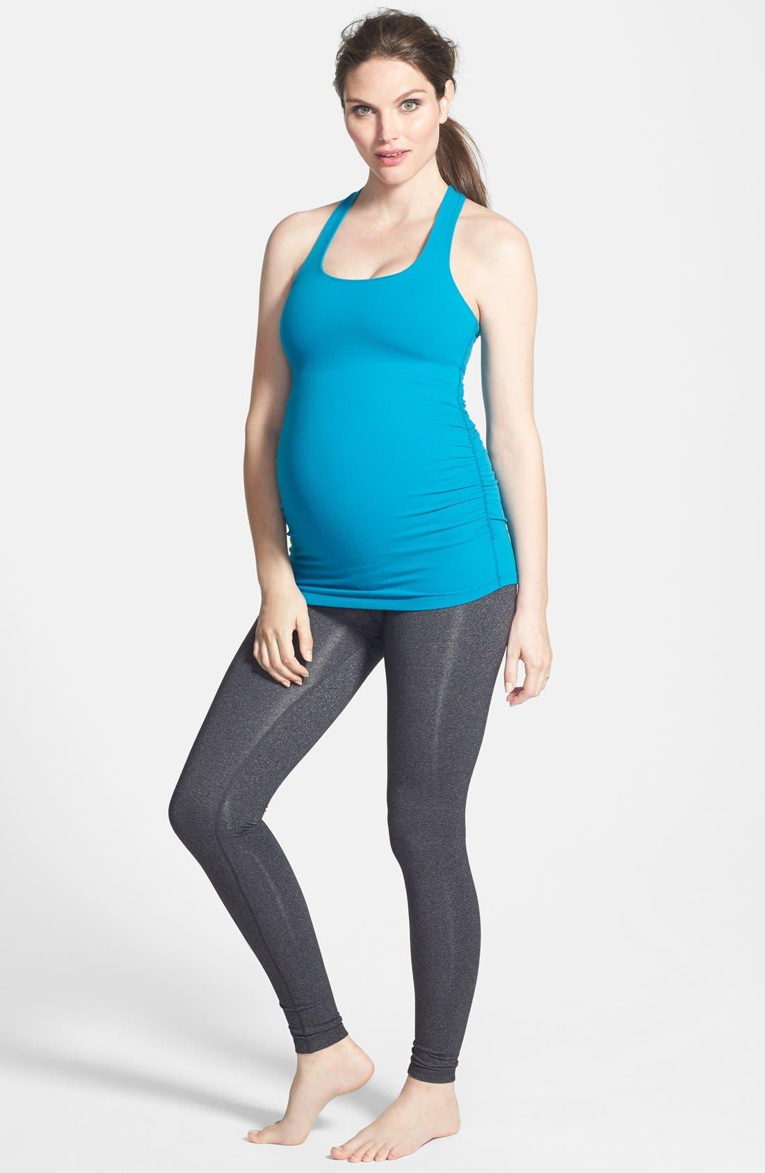 Alternate Image 3  - Beyond Yoga Long Racerback Maternity Camisole