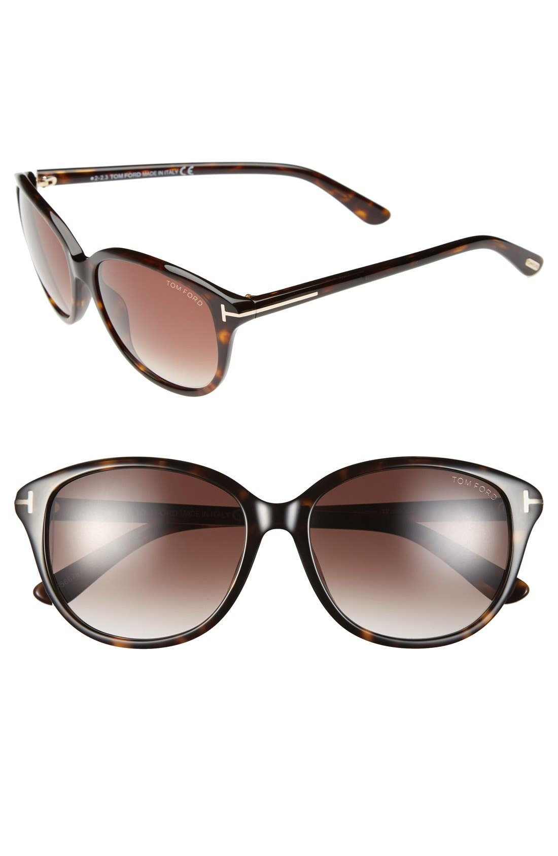 Main Image - Tom Ford 'Karmen' 57mm Sunglasses