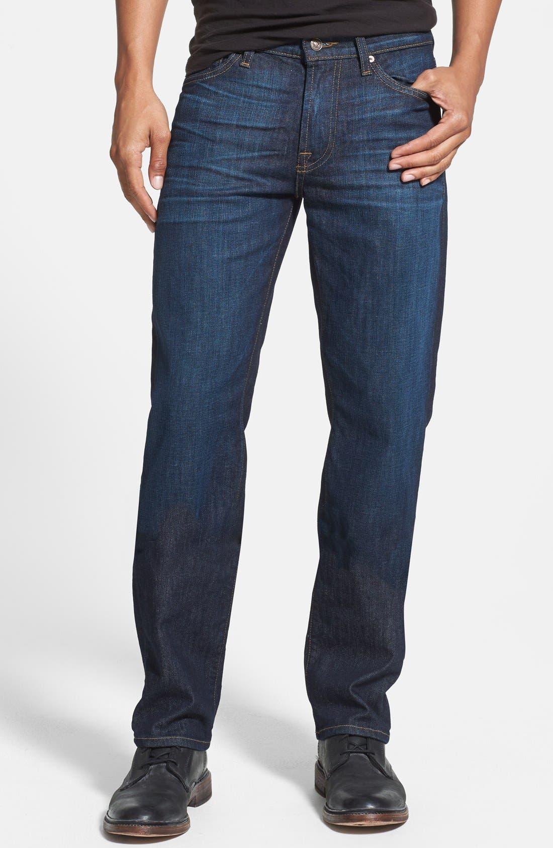 Main Image - 7 For All Mankind® 'Slimmy' Slim Straight Leg Jeans (Monaco Blue)