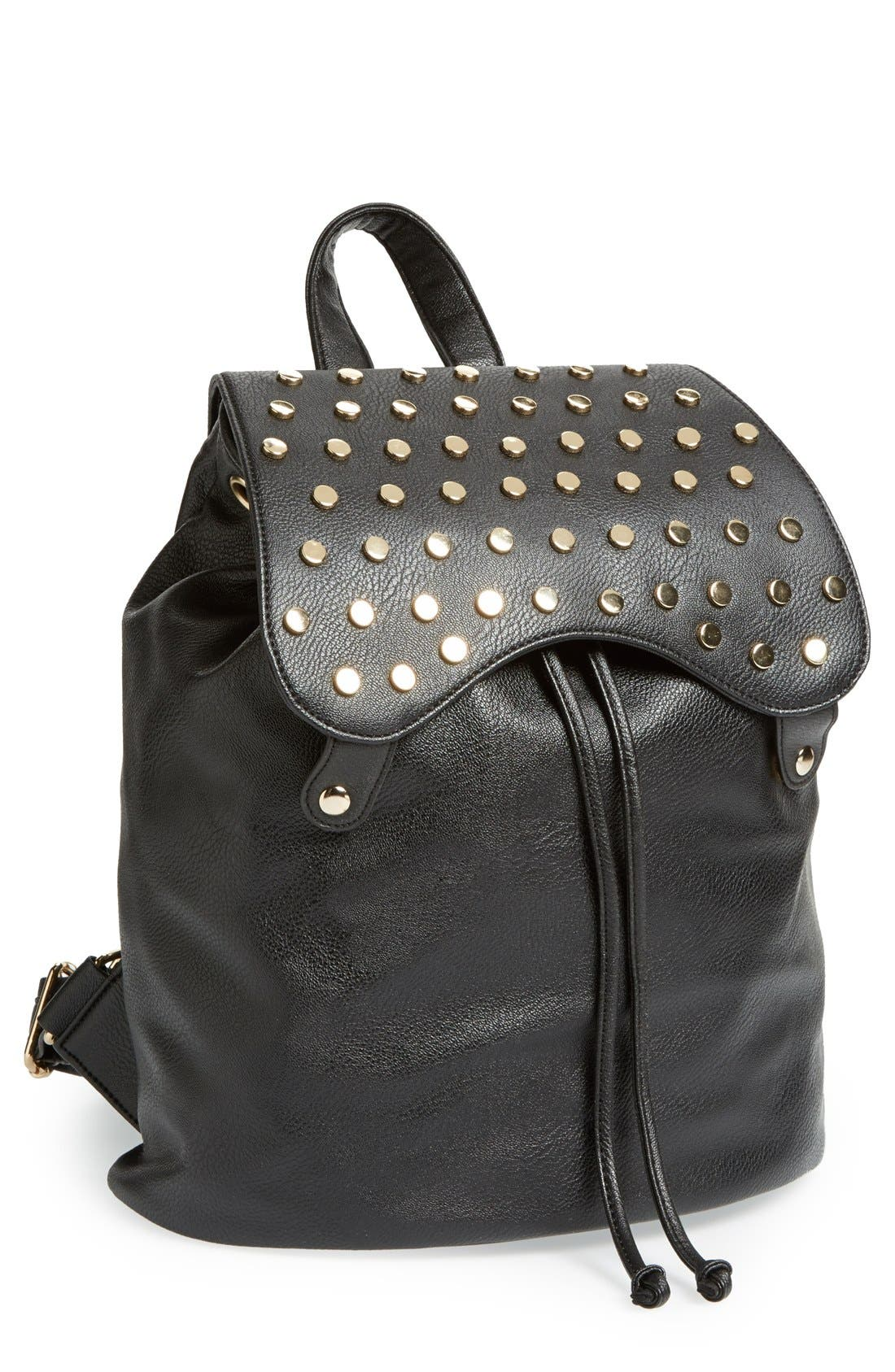 Main Image - Sole Society 'Nellie' Studded Faux Leather Backpack