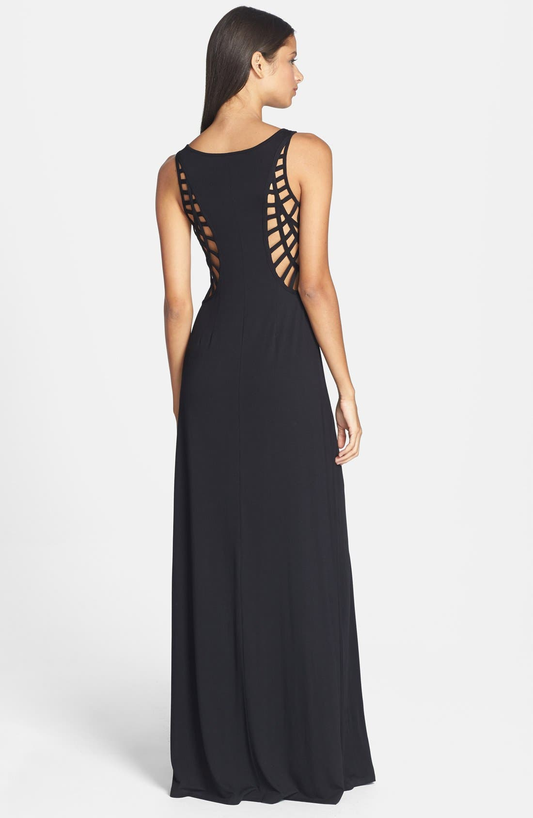 Alternate Image 2  - Felicity & Coco Back Cutout Detail Jersey Maxi Dress (Nordstrom Exclusive)
