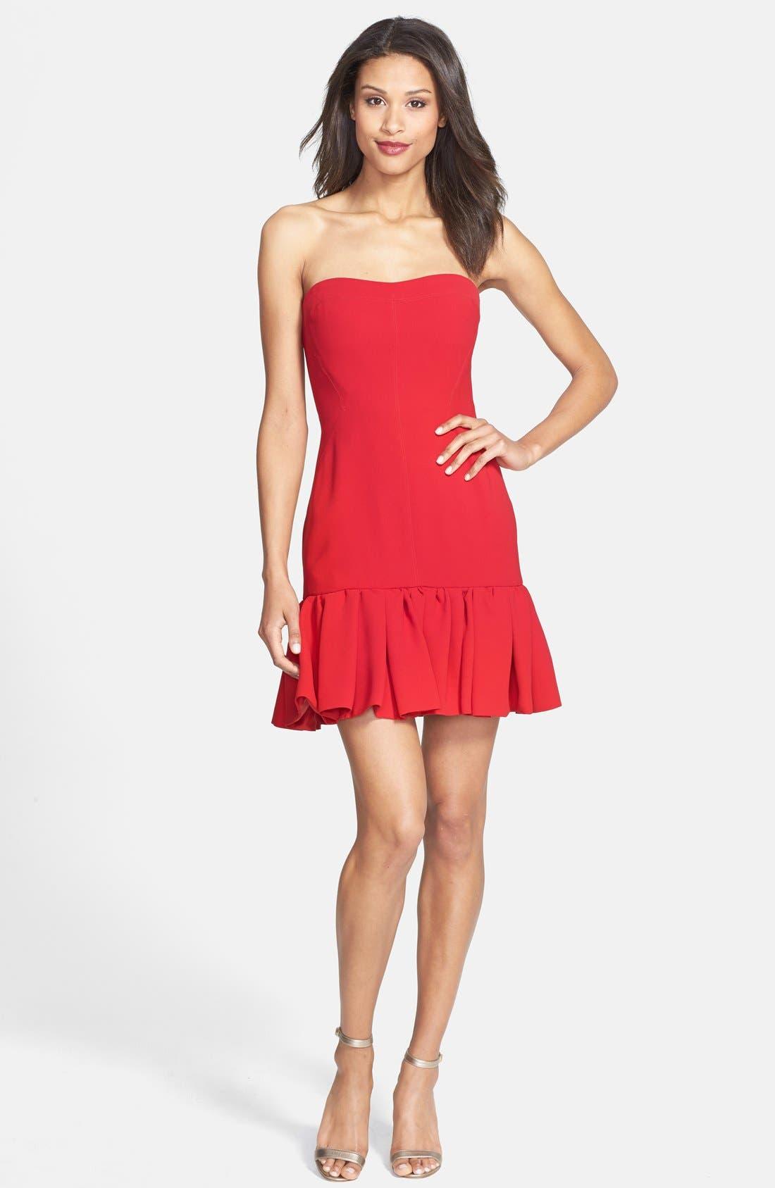 Alternate Image 3  - Jill Jill Stuart Strapless Fitted Crepe Dress