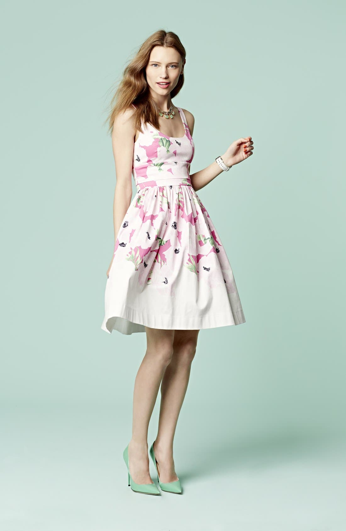 Alternate Image 5  - French Connection 'Holiday' Print Stretch Cotton Fit & Flare Dress