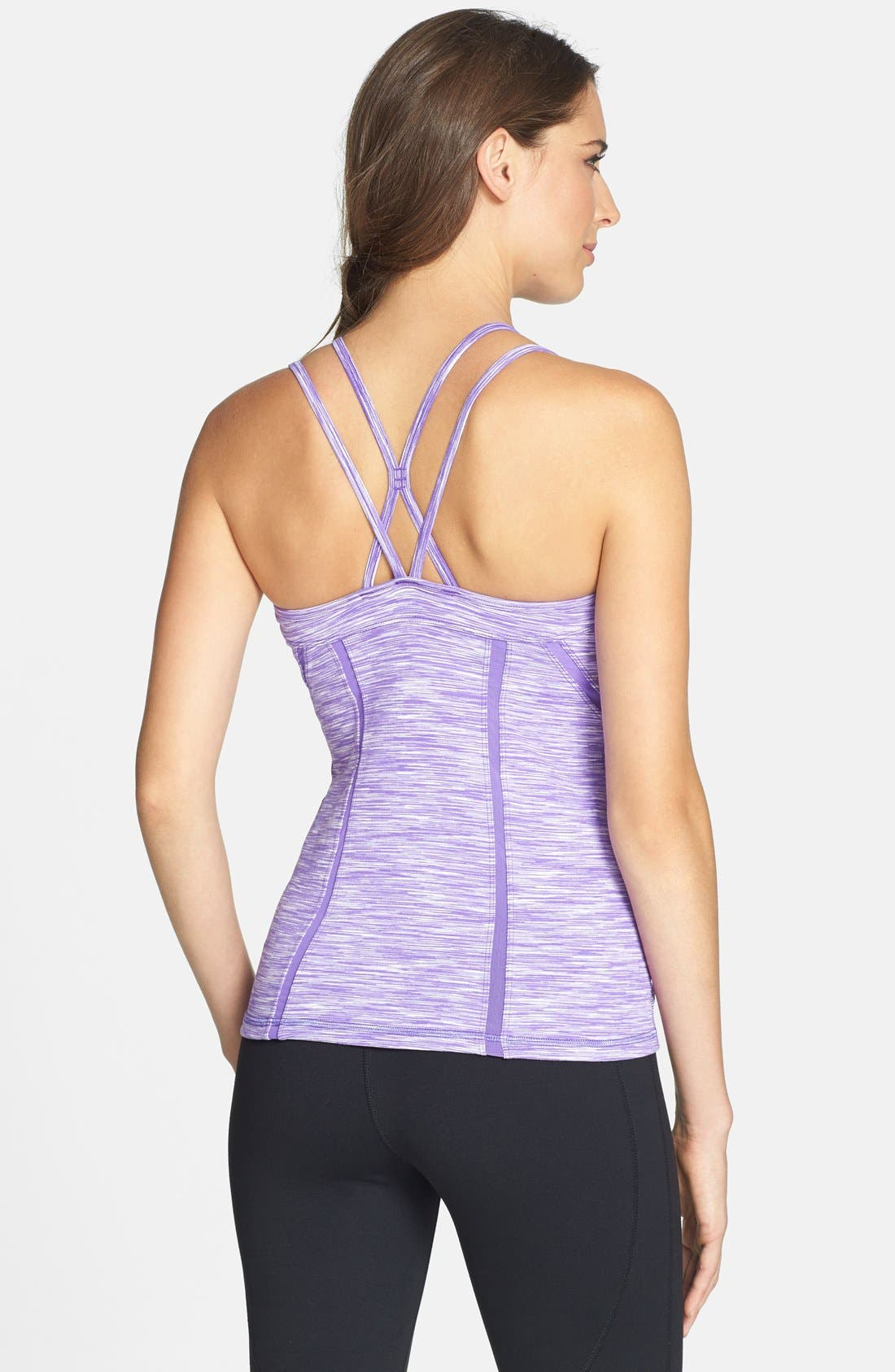 Alternate Image 2  - Zella 'Alexa' Space Dye Shelf Bra Tank