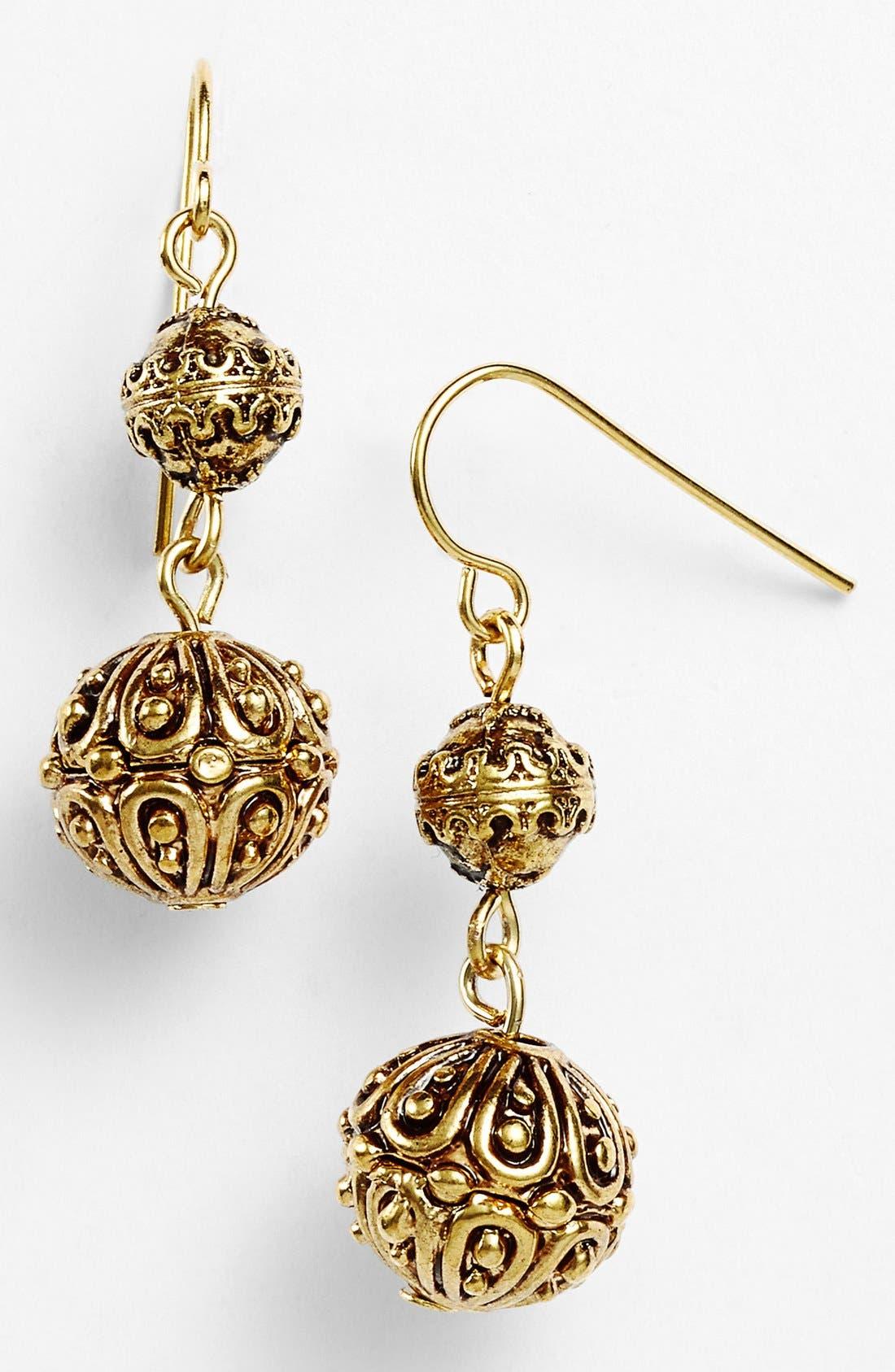Alternate Image 1 Selected - Lauren Ralph Lauren Textured Drop Earrings