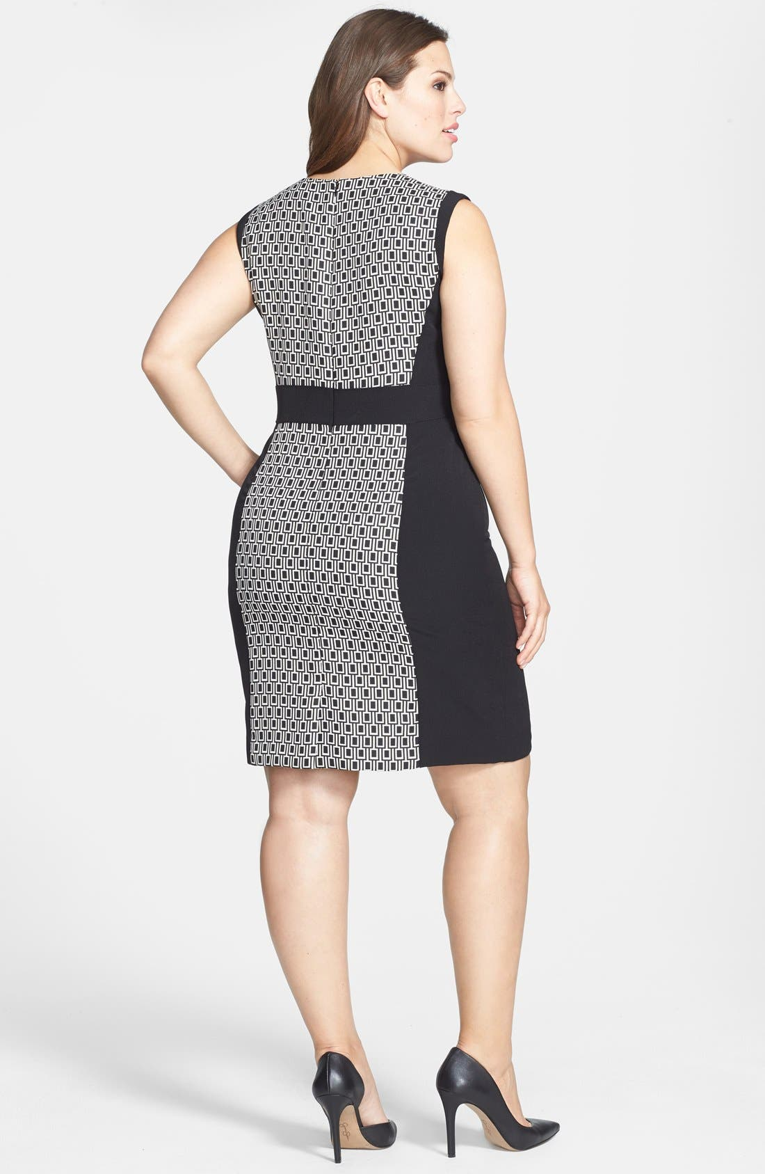 Alternate Image 2  - Tahari by ASL Print Panel Sheath Dress (Plus Size)