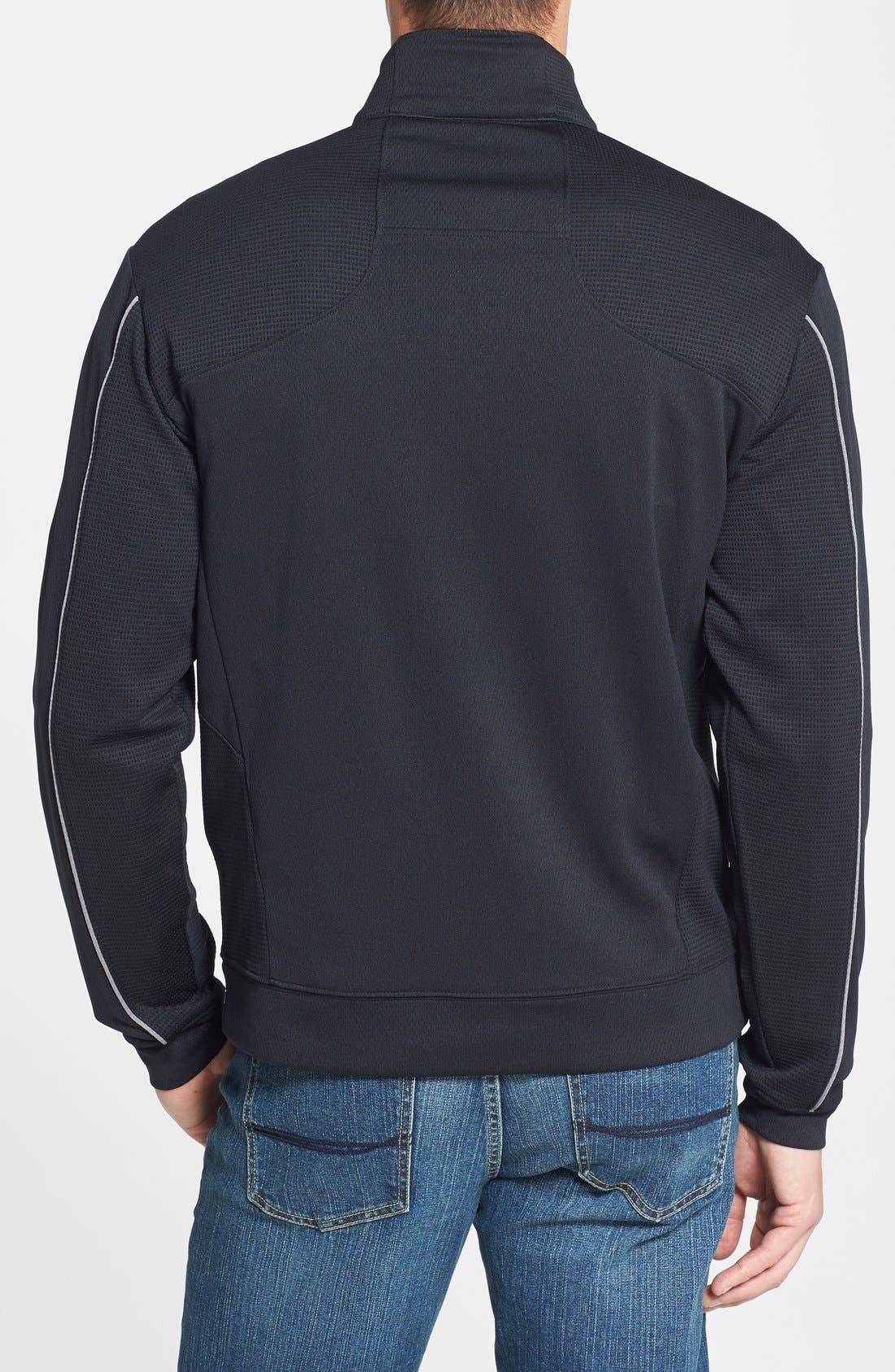 Alternate Image 2  - Cutter & Buck 'DryTec® Edge' Half Zip Mesh Pullover