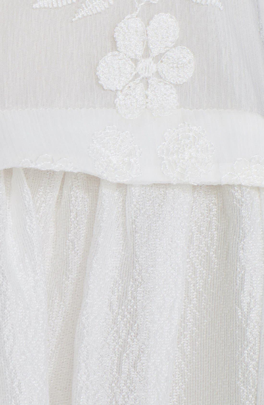 Alternate Image 3  - Elizabeth and James 'Shadia' Embroidered Silk Babydoll Dress