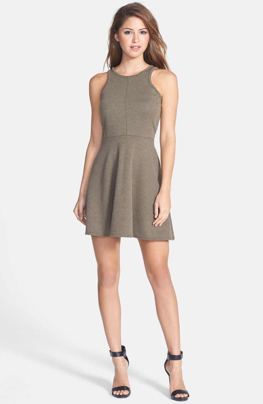 Alternate Image 1 Selected - Olive & Oak Textured Fit & Flare Dress