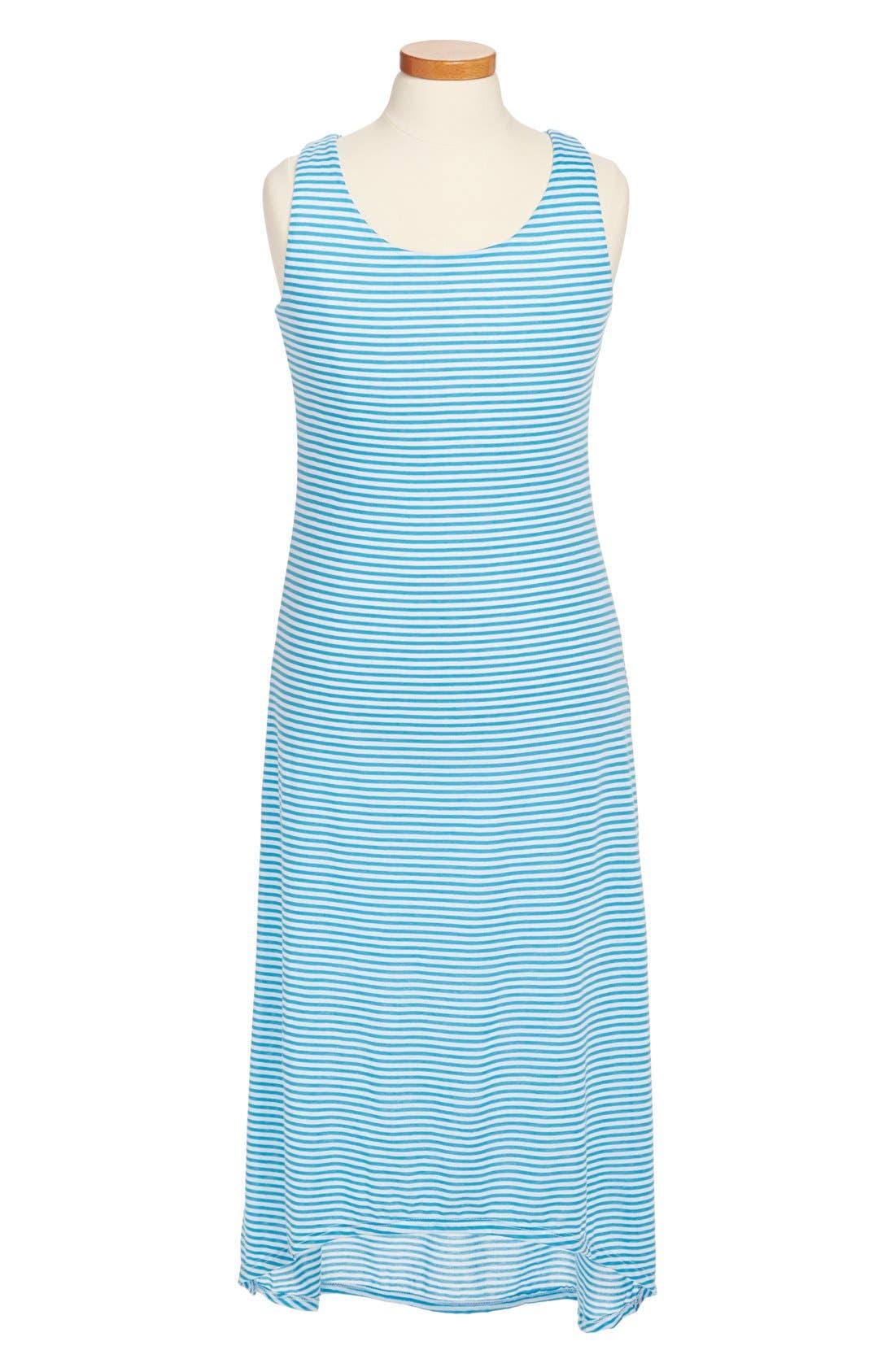 Alternate Image 1 Selected - Mia Chica Stripe Maxi Dress (Little Girls & Big Girls)