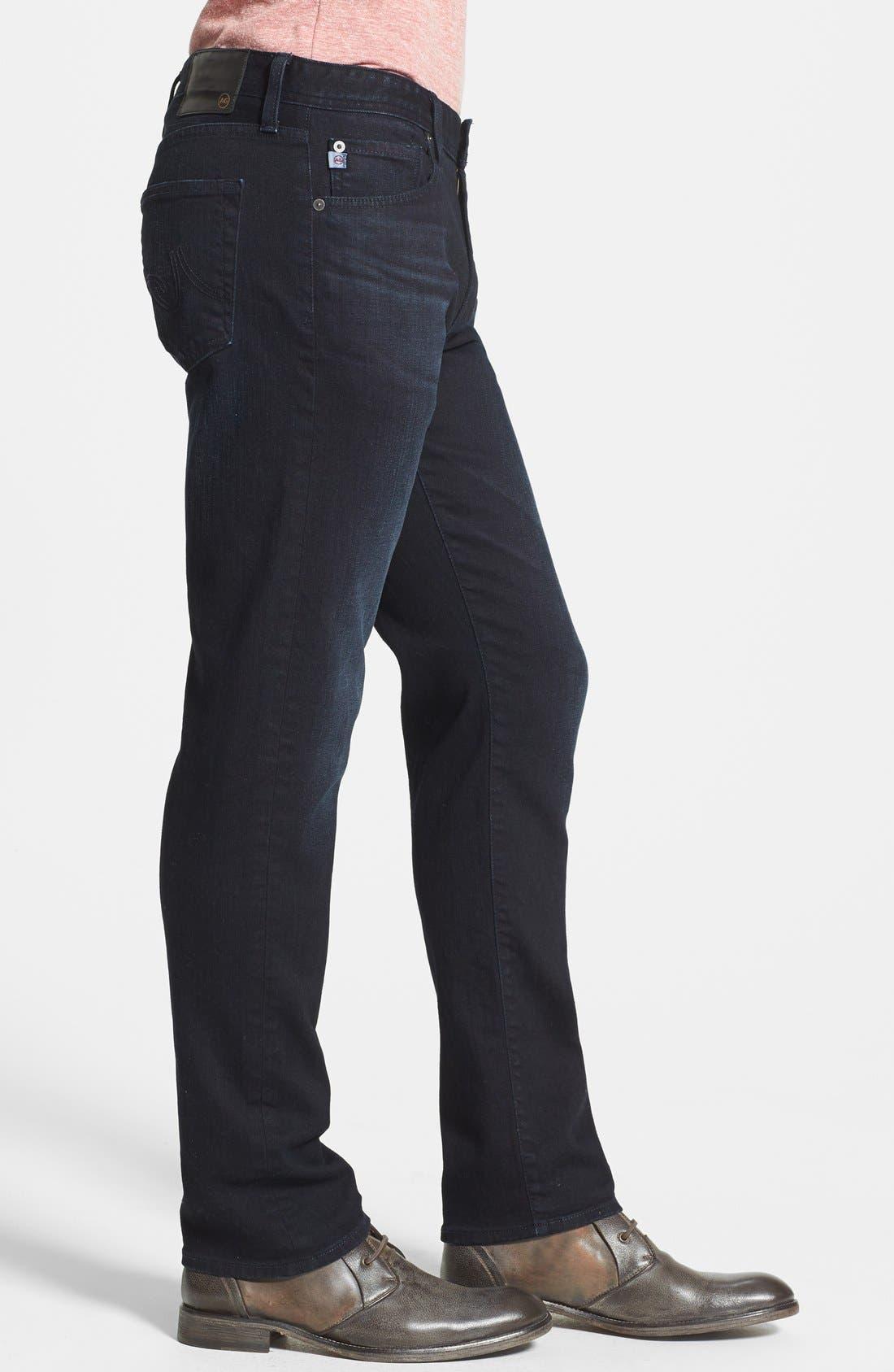 Alternate Image 3  - AG 'Graduate' Tailored Straight Leg Jeans (3 Years Deep Midnight)