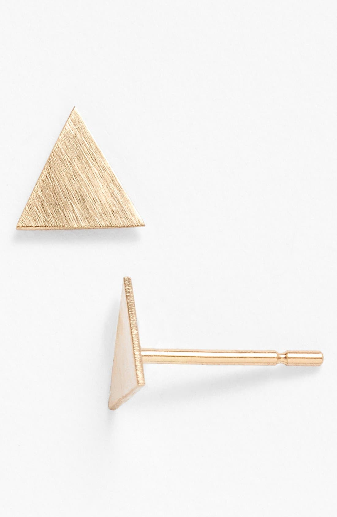 Alternate Image 1 Selected - Melissa Joy Manning Triangle Stud Earrings