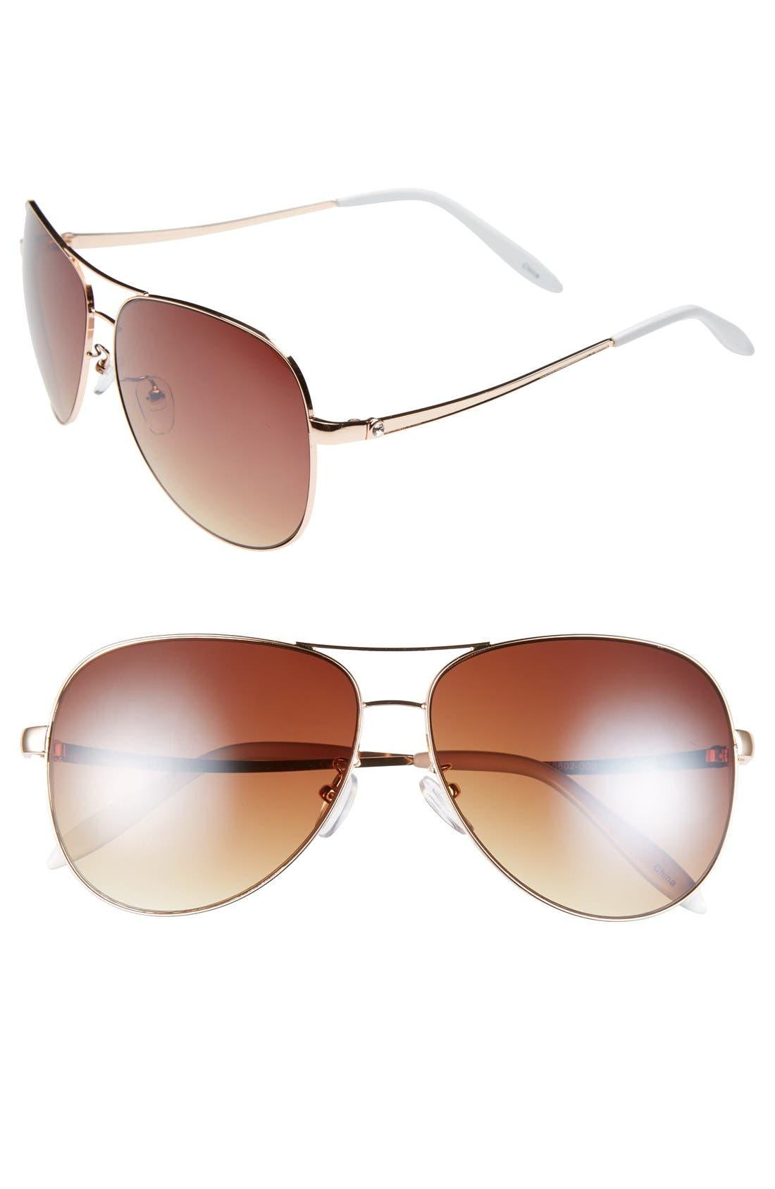 Alternate Image 1 Selected - Icon Eyewear 60mm Aviator Sunglasses