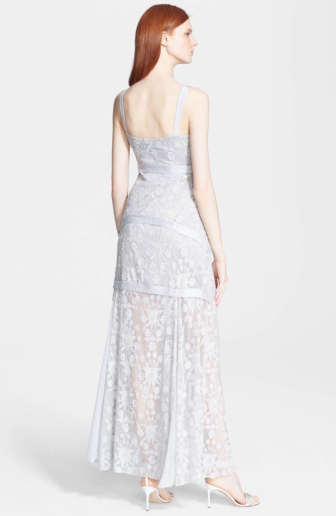 Alternate Image 2  - Elizabeth and James 'Lise' Long Silk Lace Dress