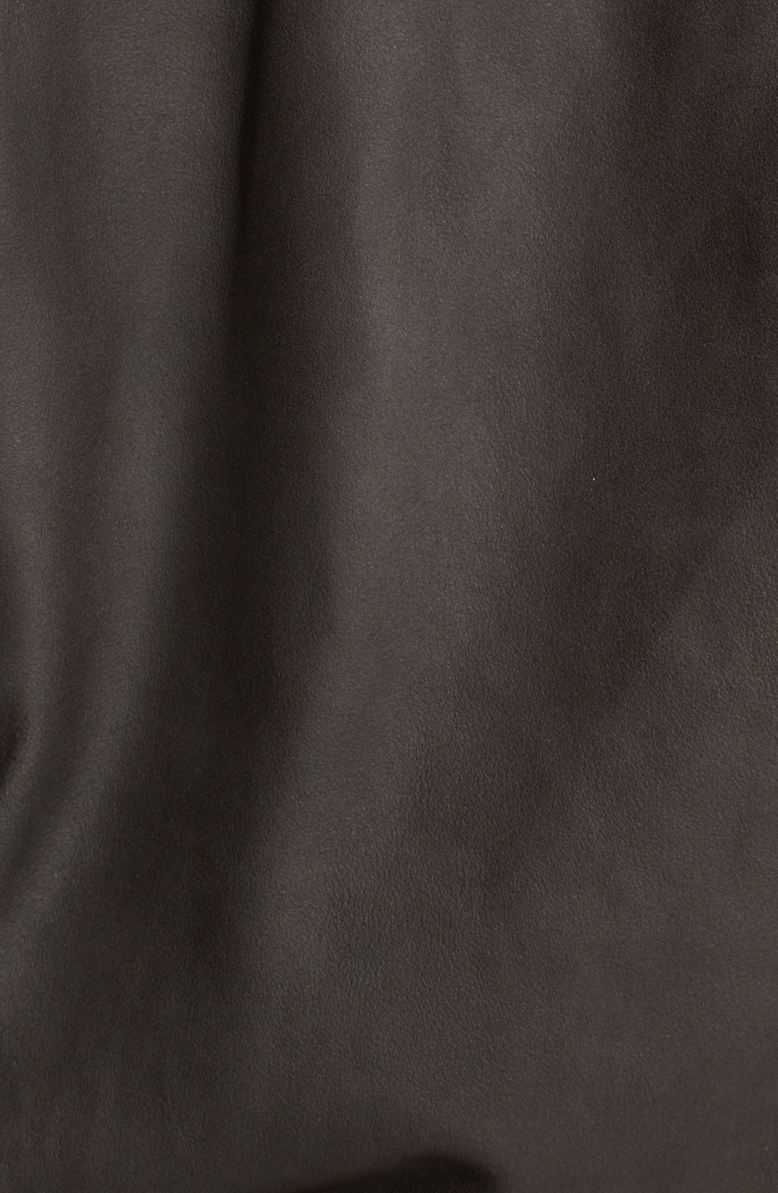 Alternate Image 3  - Elizabeth and James 'Tatum' Leather Sweatshirt Jacket